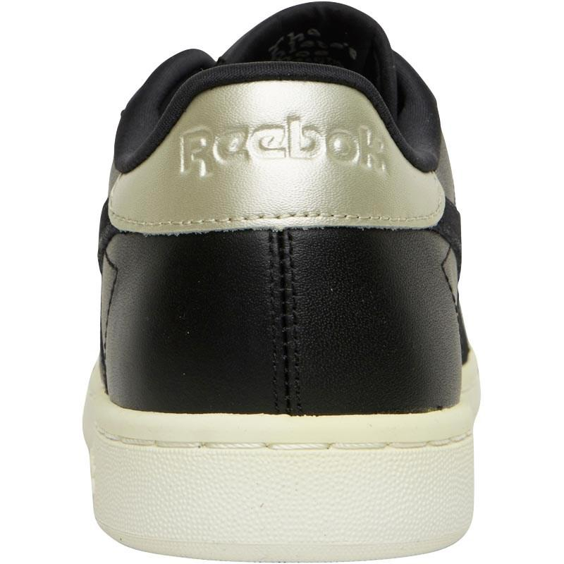 Reebok Leather Npc Uk Metallic Trainers Black/chalk/flint Grey