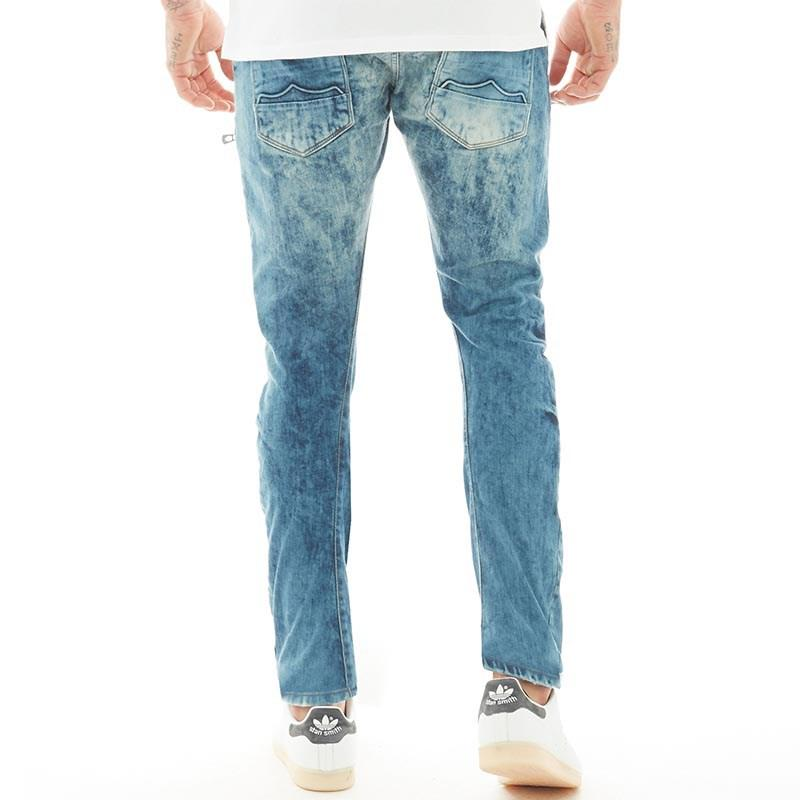 9934a0665d5 883 Police Hazard Ai 428 Twisted Stretch Jeans Blue/destroyed in ...