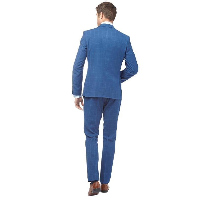 Ben Sherman Synthetic Very Large Over Check Suit Bright Blue Ground for Men