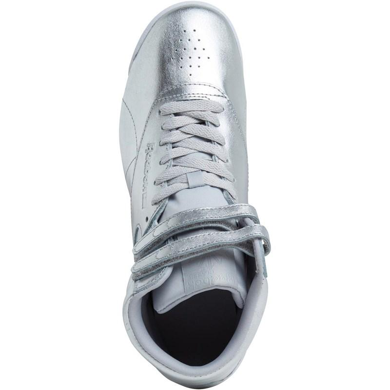Reebok Leather Freestyle Sneakers in Silver (Metallic)