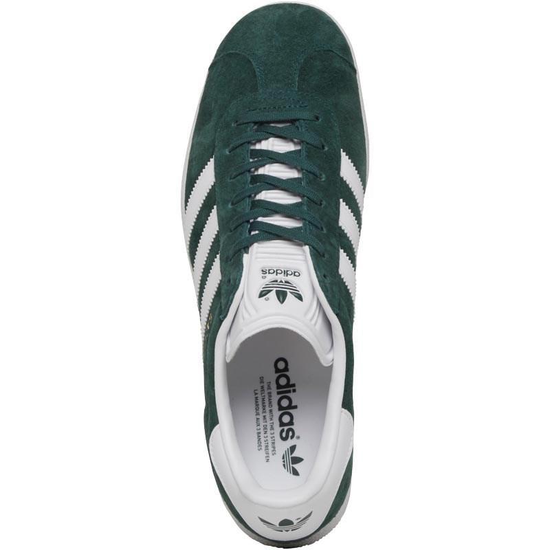 adidas Originals Suede Gazelle Trainers Mystery Green/footwear White/gold Metallic for Men