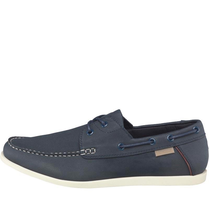 Chaussures Bateau En Cuir Ben Sherman Marine - Bleu dsyu0v4Z56