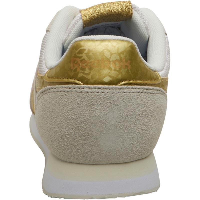 Reebok Leather Royal Classic Jogger Trainers Chalk/lilac Ash/gold Metallic/white