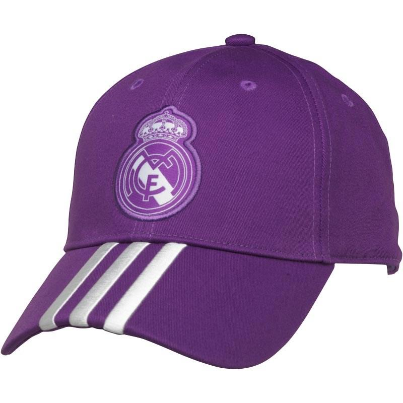 e4705c64fede8 adidas Rmcf Real Madrid 3 Stripe Cap Ray Purple crystal White in ...