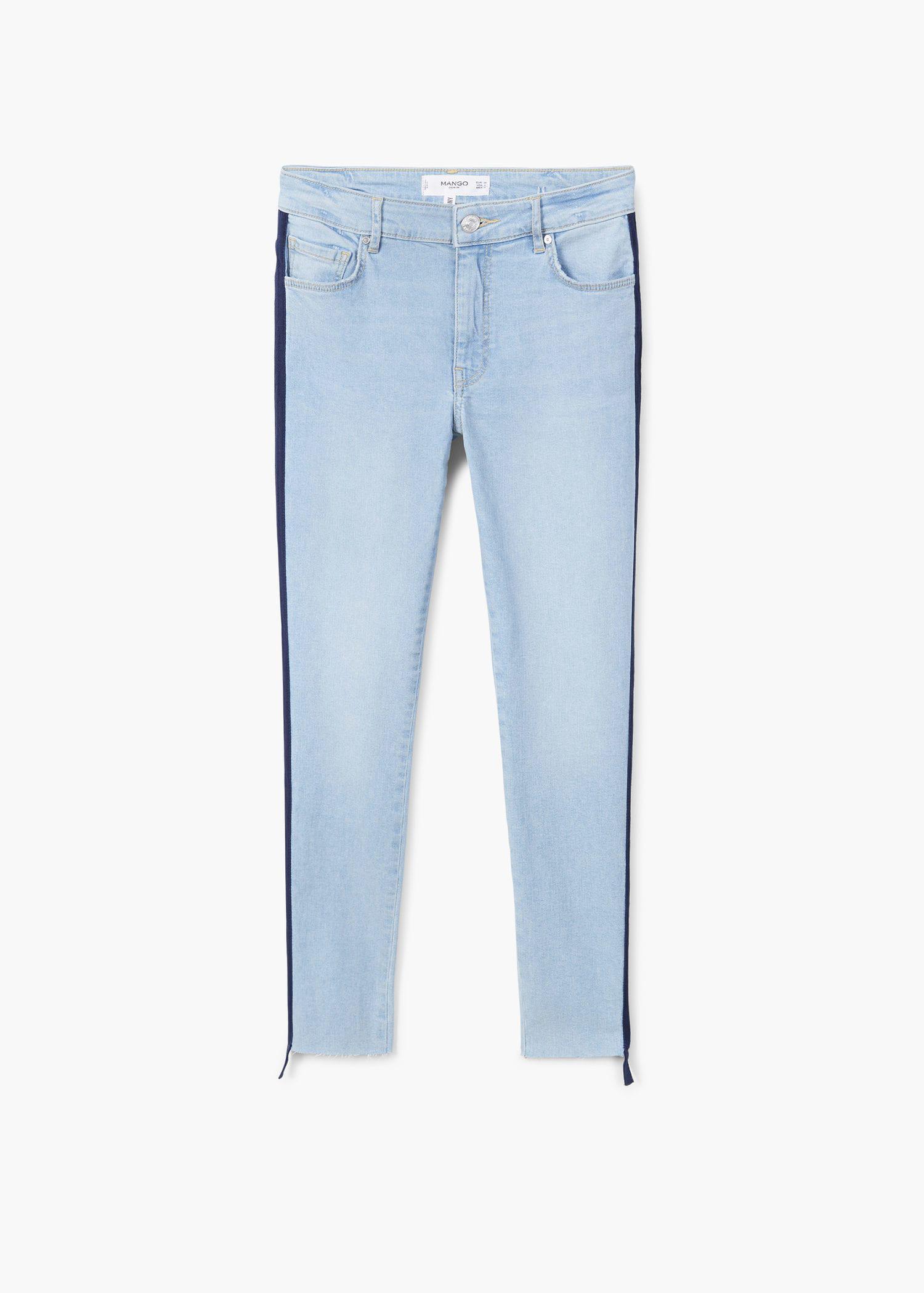 Mango Denim Cropped Skinny Jeans in Light Blue (Blue)