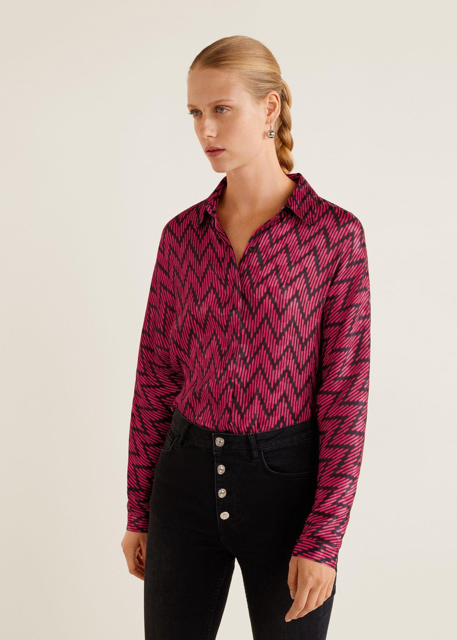05b88c3e01d Mango. Women's Geometric Print Shirt