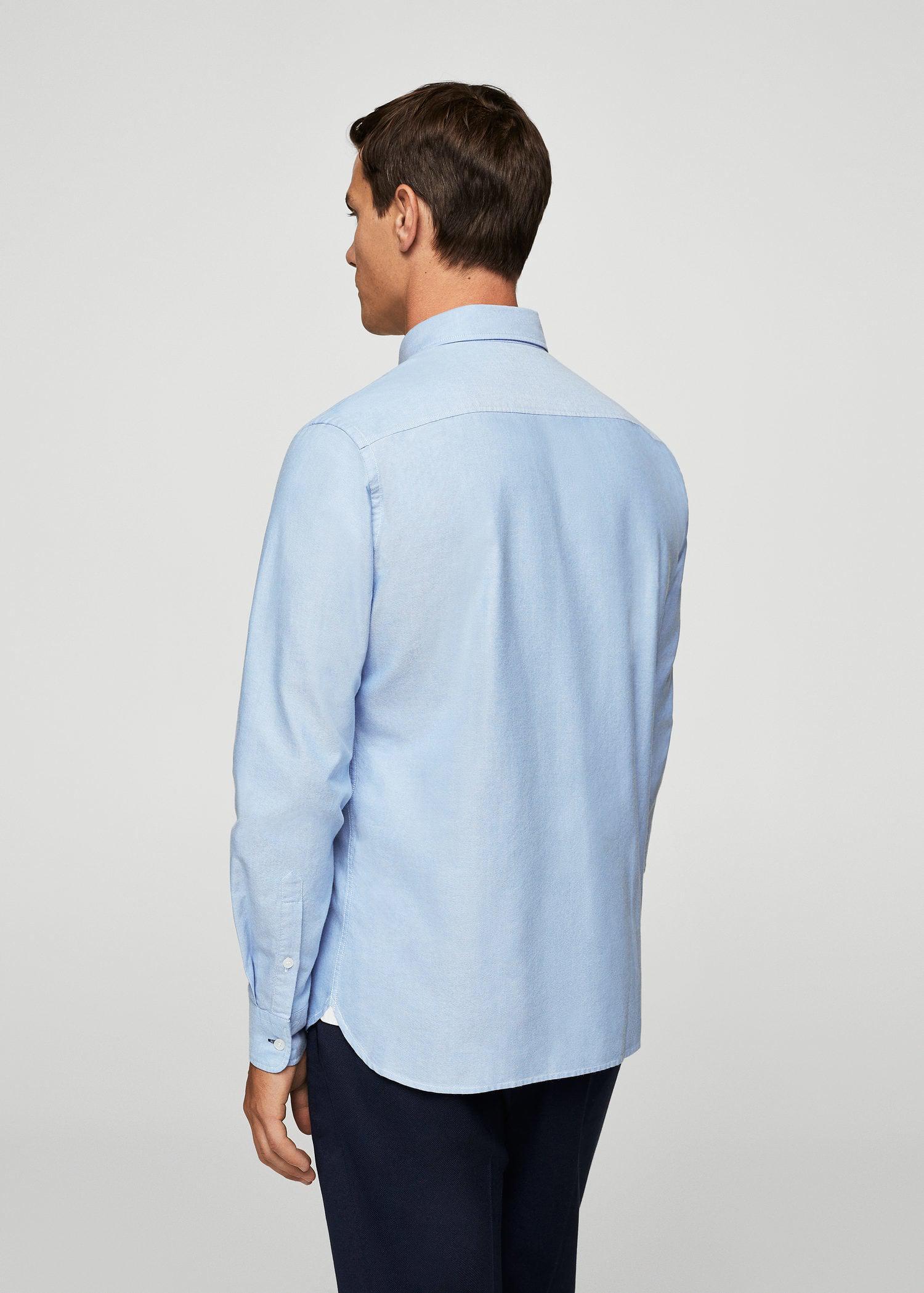 Mango Cotton Shirt in Sky Blue (Blue) for Men