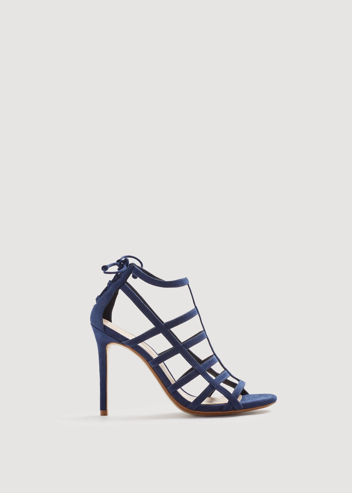 MANGO Strappy heeled sandals O2sSqn