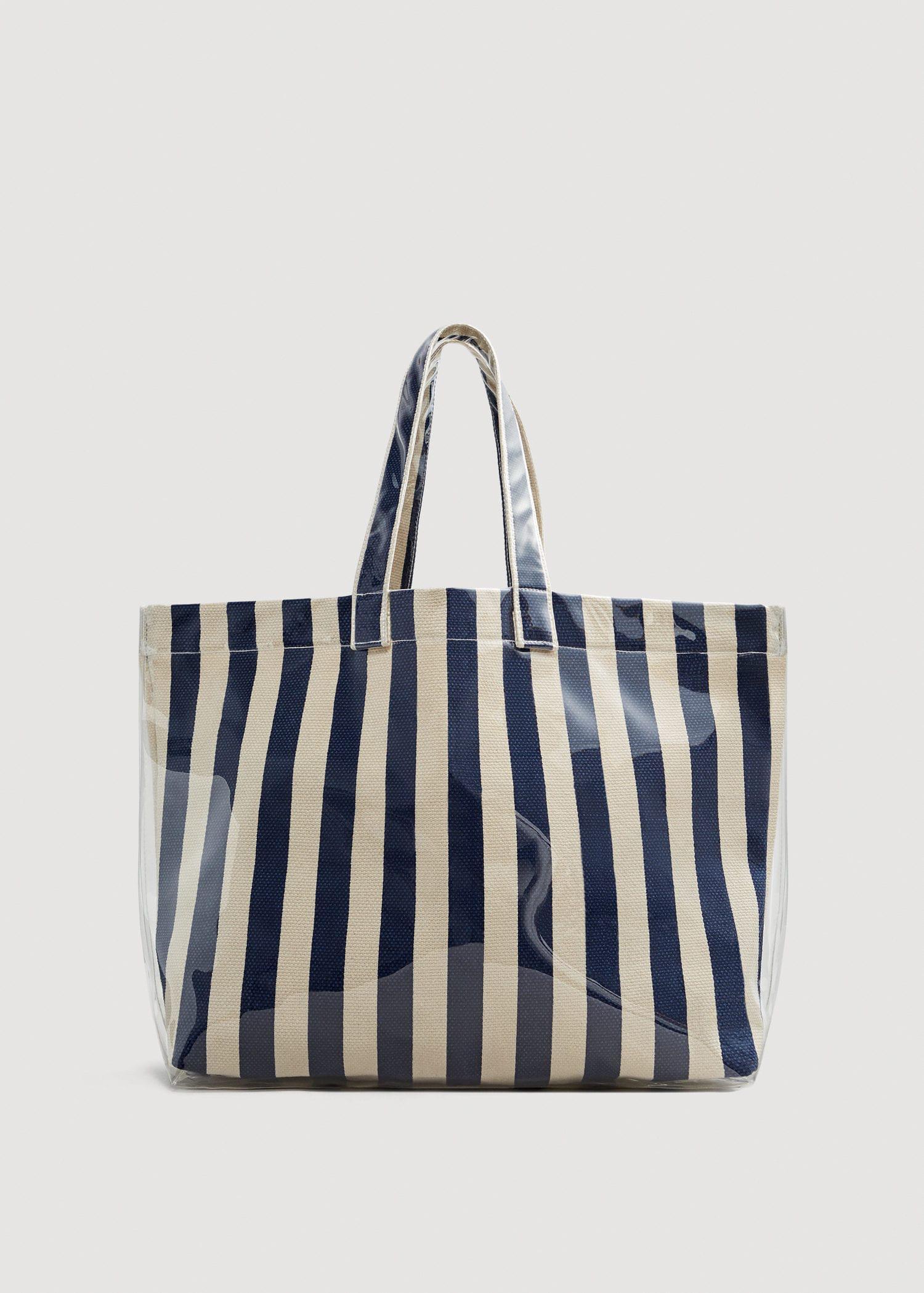 Stripe Shopper Bag - Blue Mango CYKd1