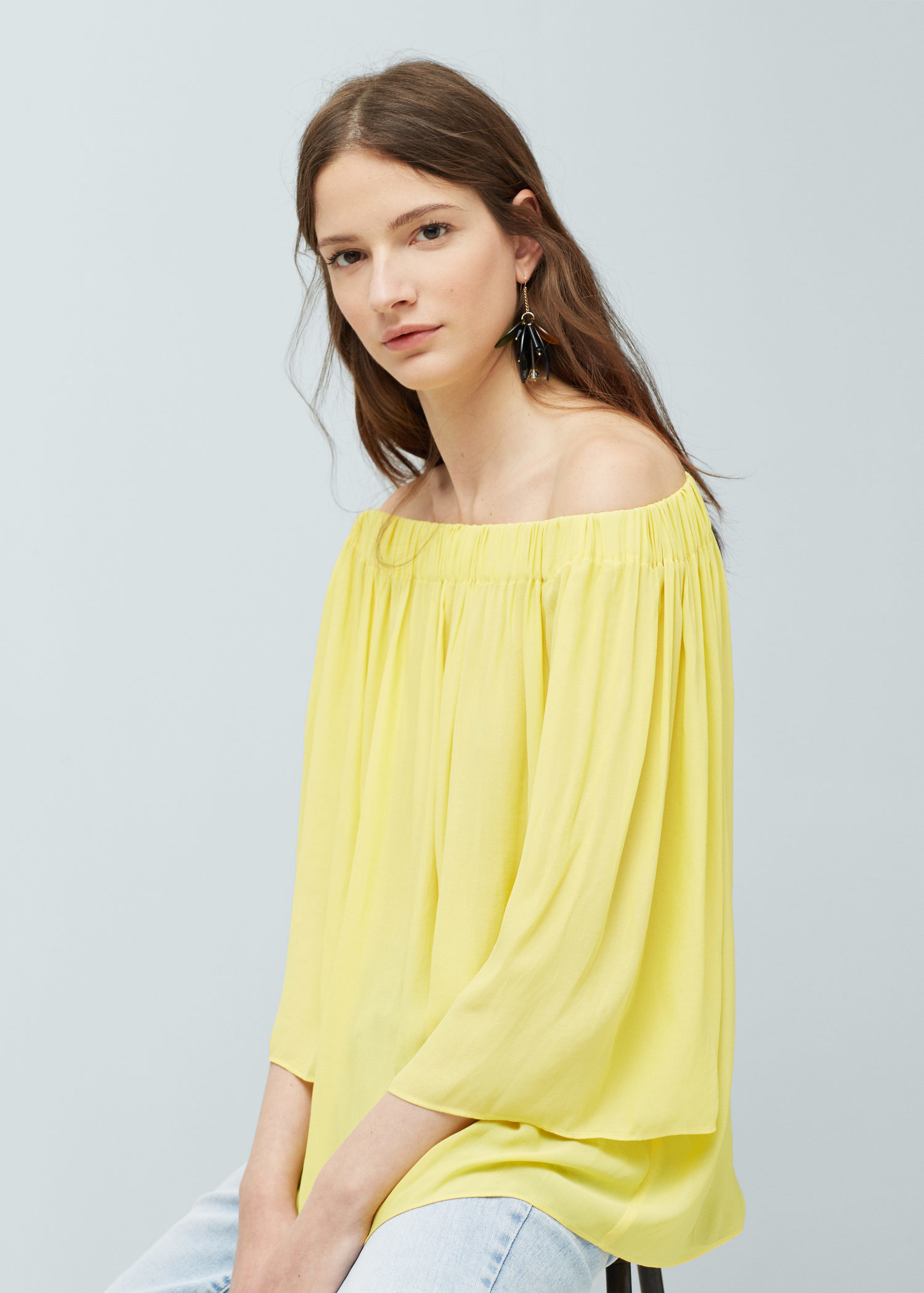 Yellow Off The Shoulder Blouse 15