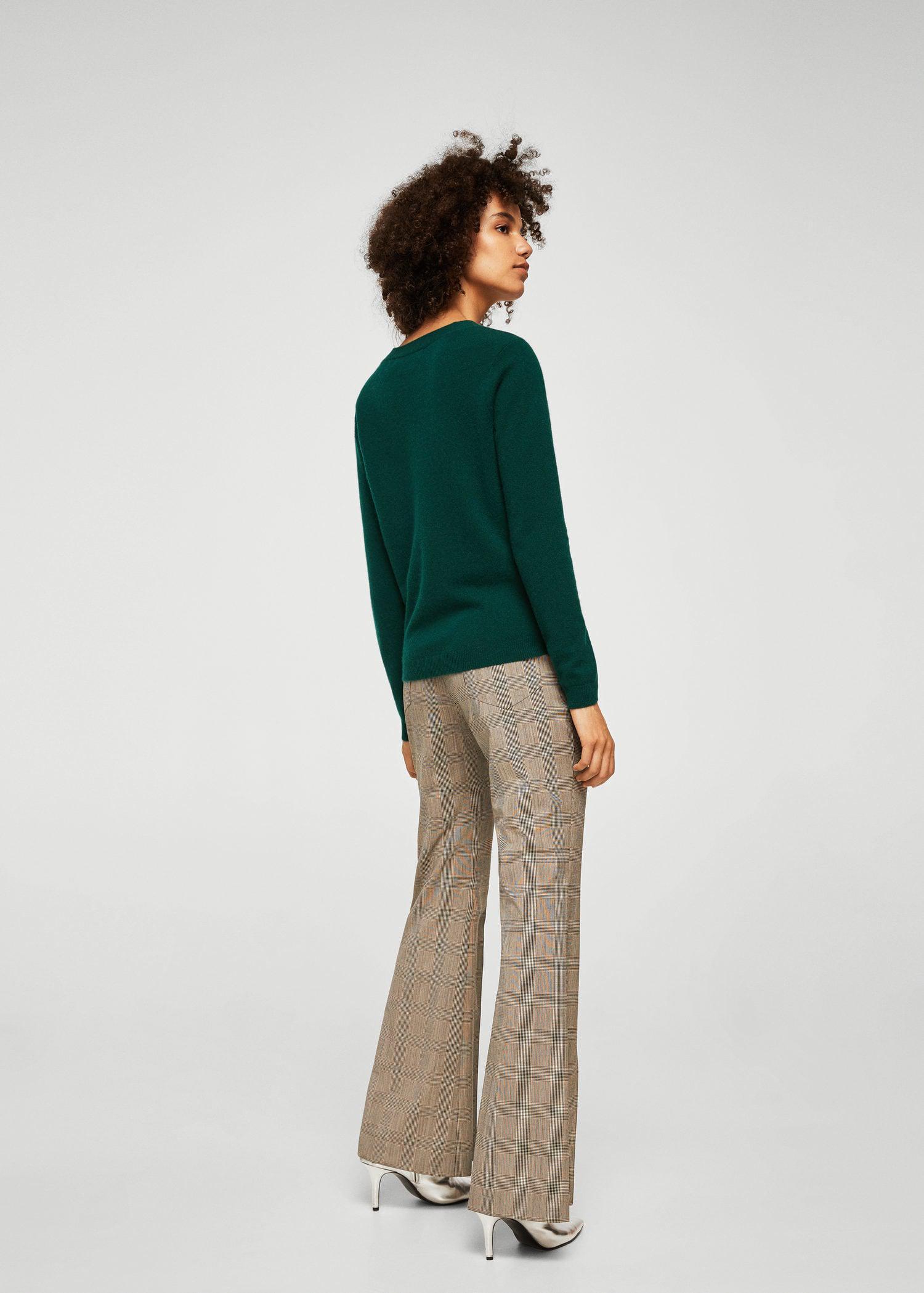 Mango V-neck Cashmere Sweater in Dark Green (Green) for Men