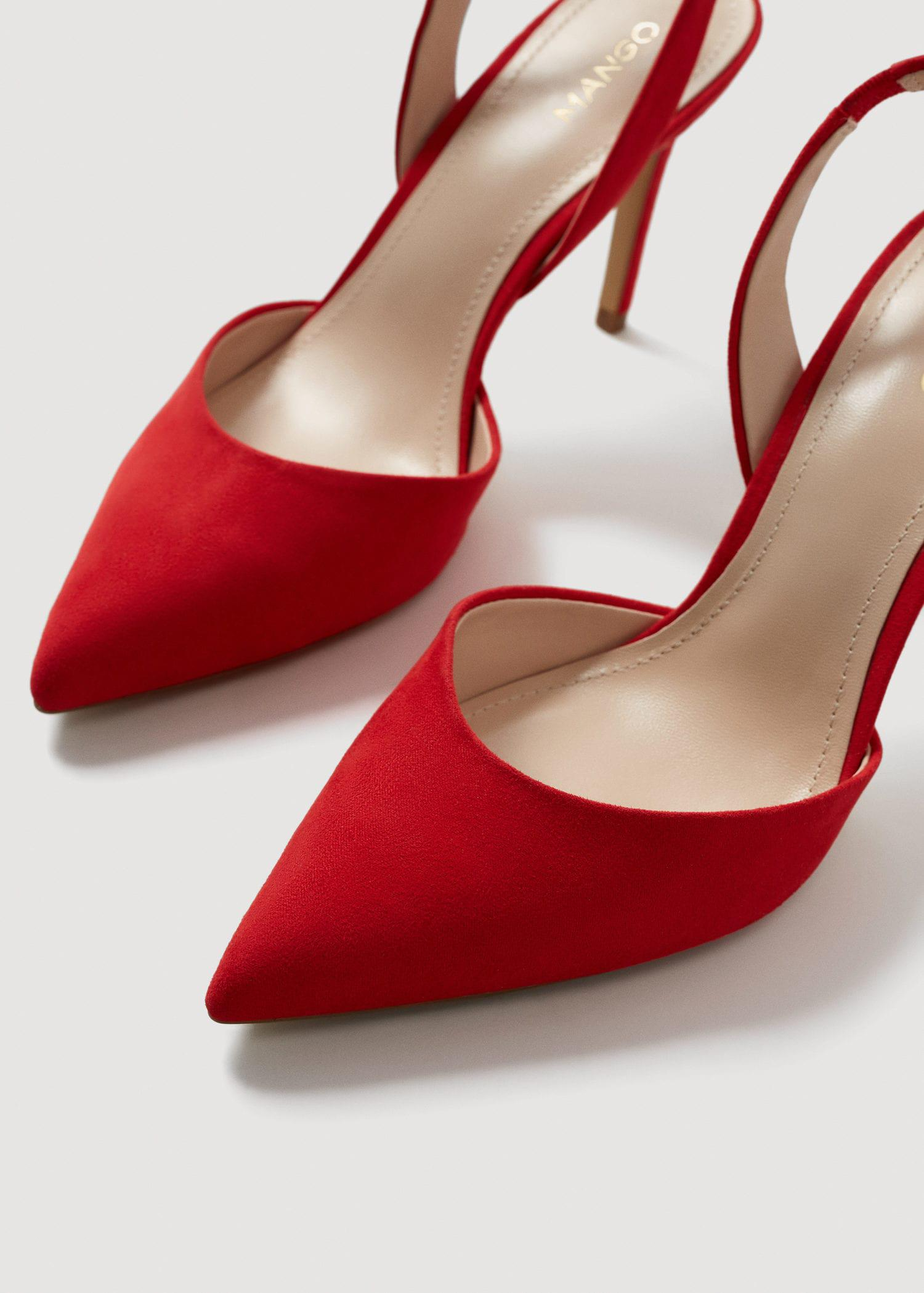b29fb8576e2 Mango Red Slingback Heel Shoes