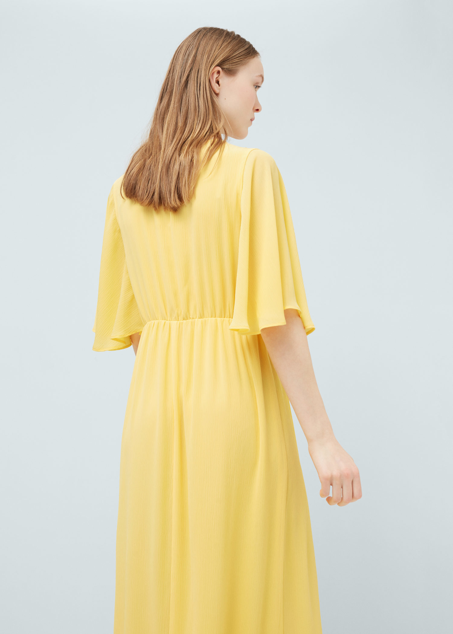yellow dress flowy lyst mango flowy long dress in yellow 5342