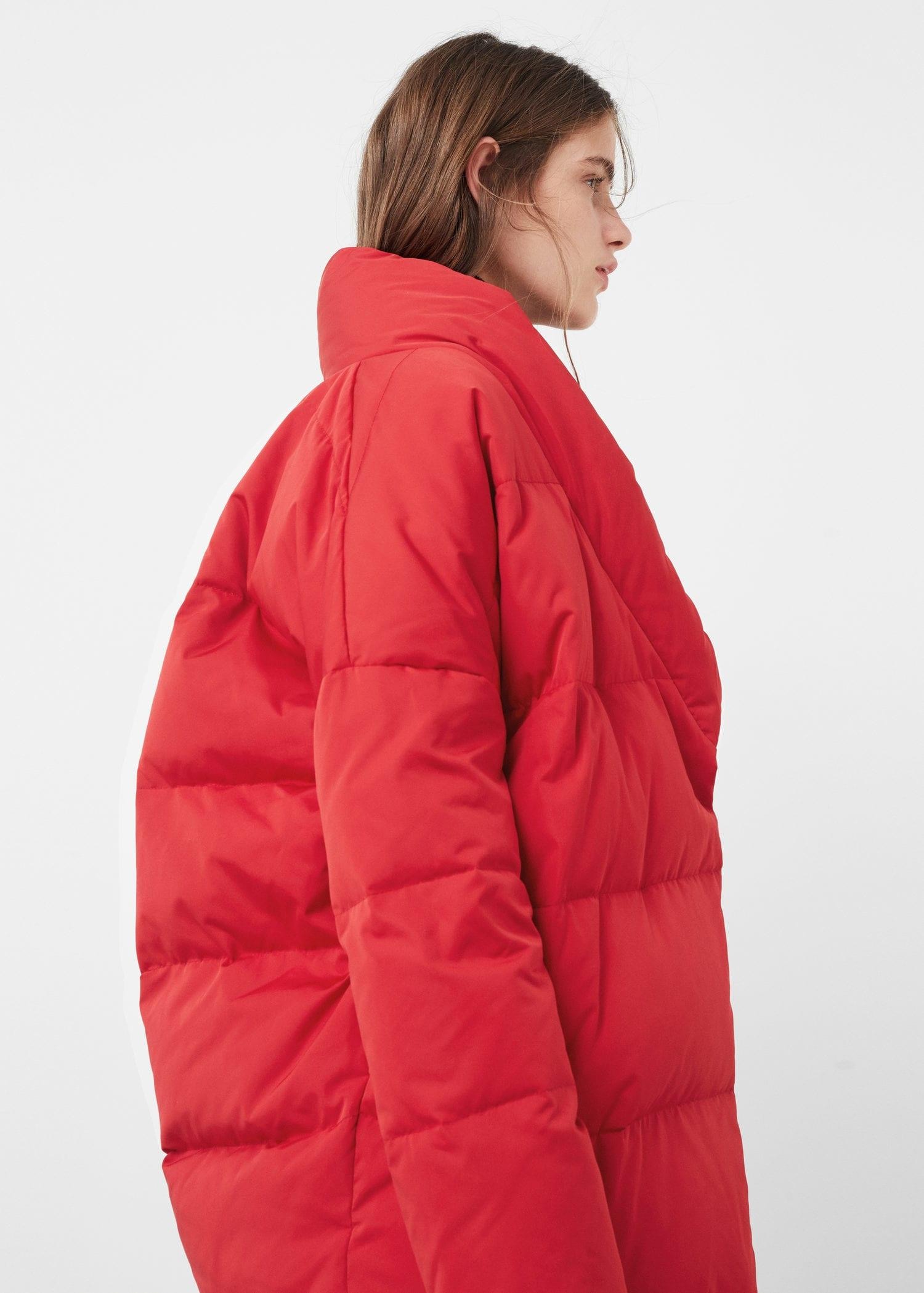 Lyst Mango Quilted Down Filled Shell Puffer Jacket In Red