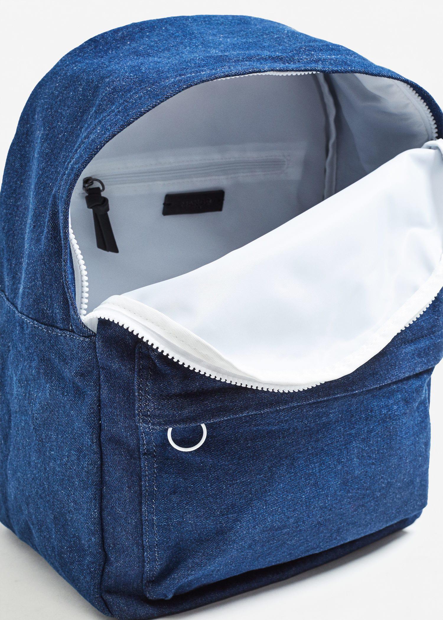 Mango Cotton Backpack M-- in Blue for Men