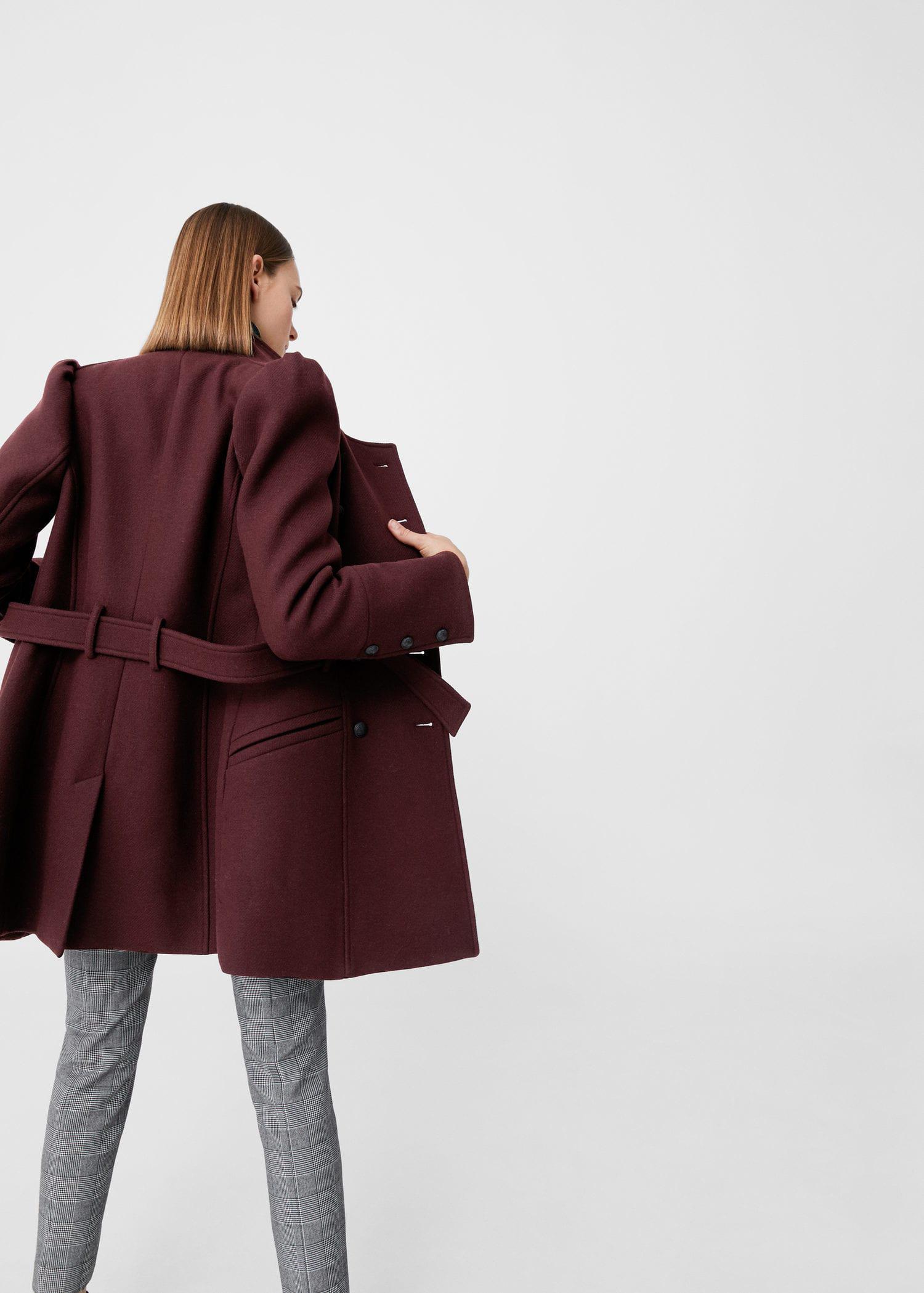 1d1b1e977 Lyst - Mango Puffed-shoulder Wool Coat