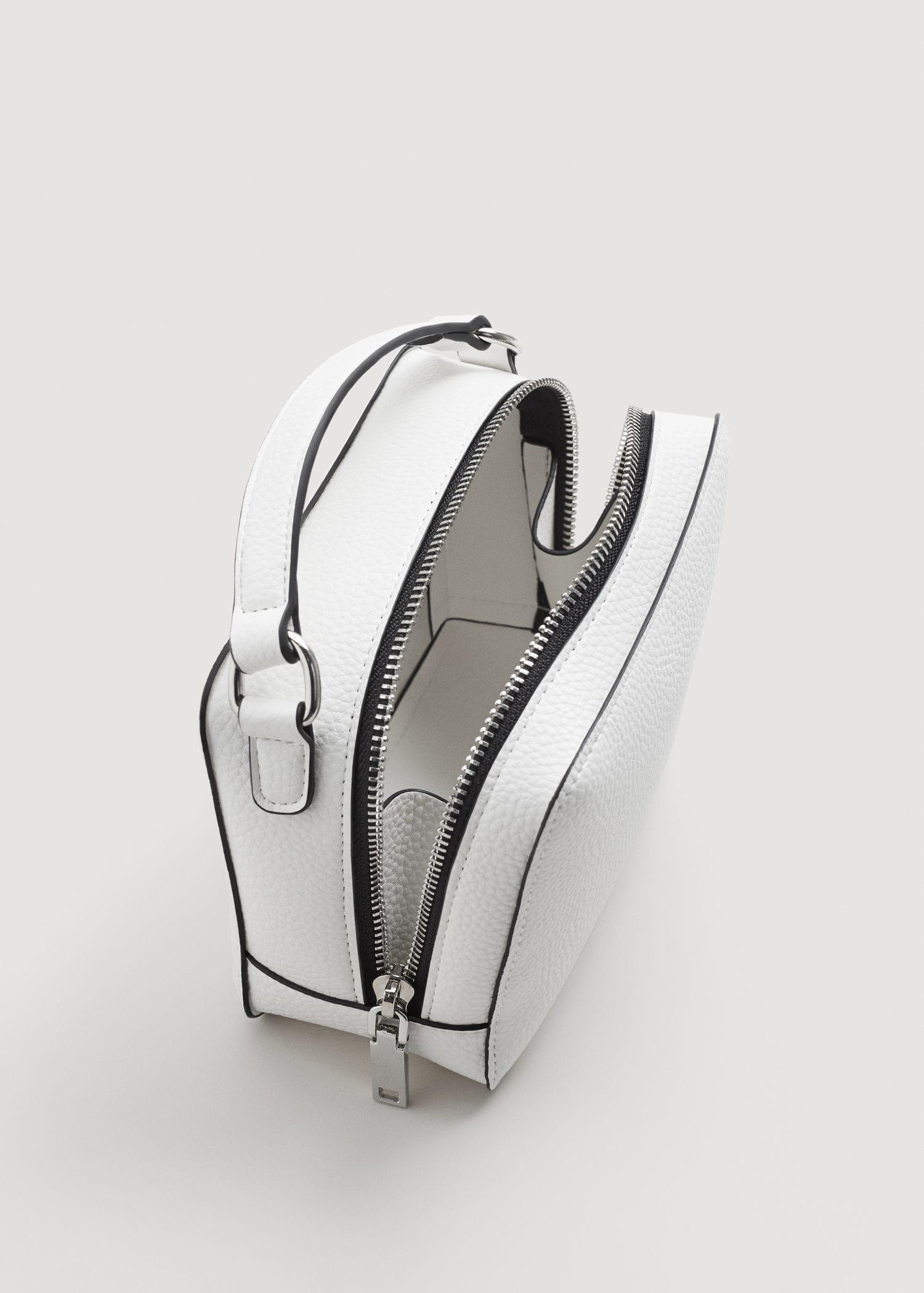 Mango Leather Mini Cross-body Bag in White