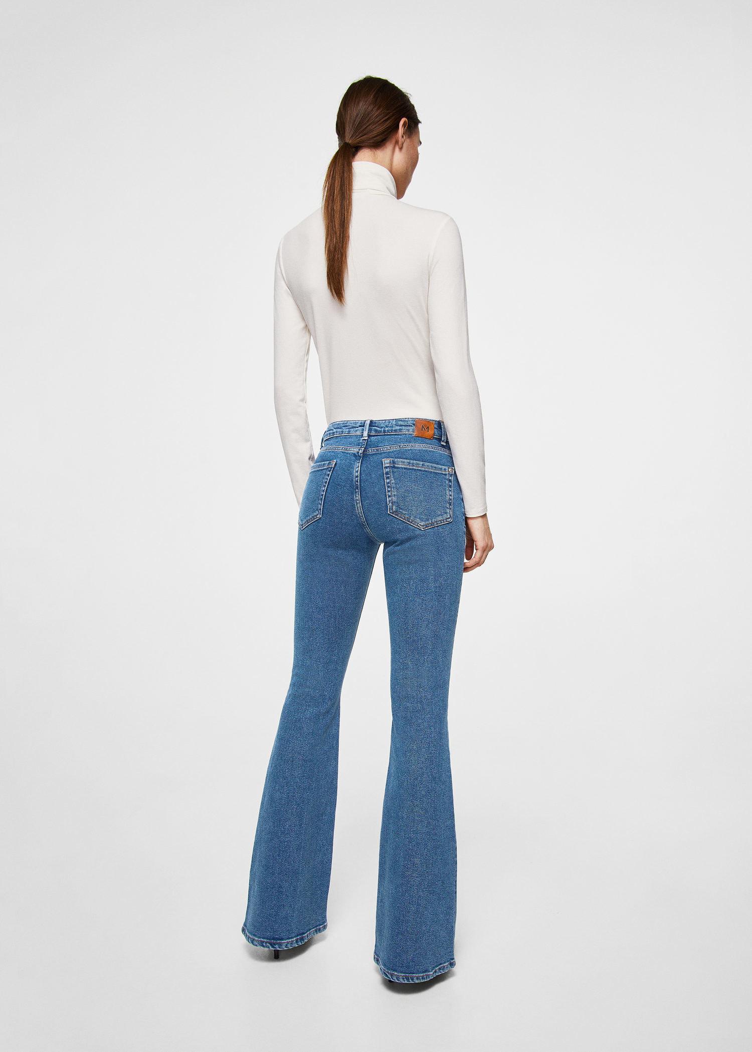 Mango Denim Flared Jeans in Blue