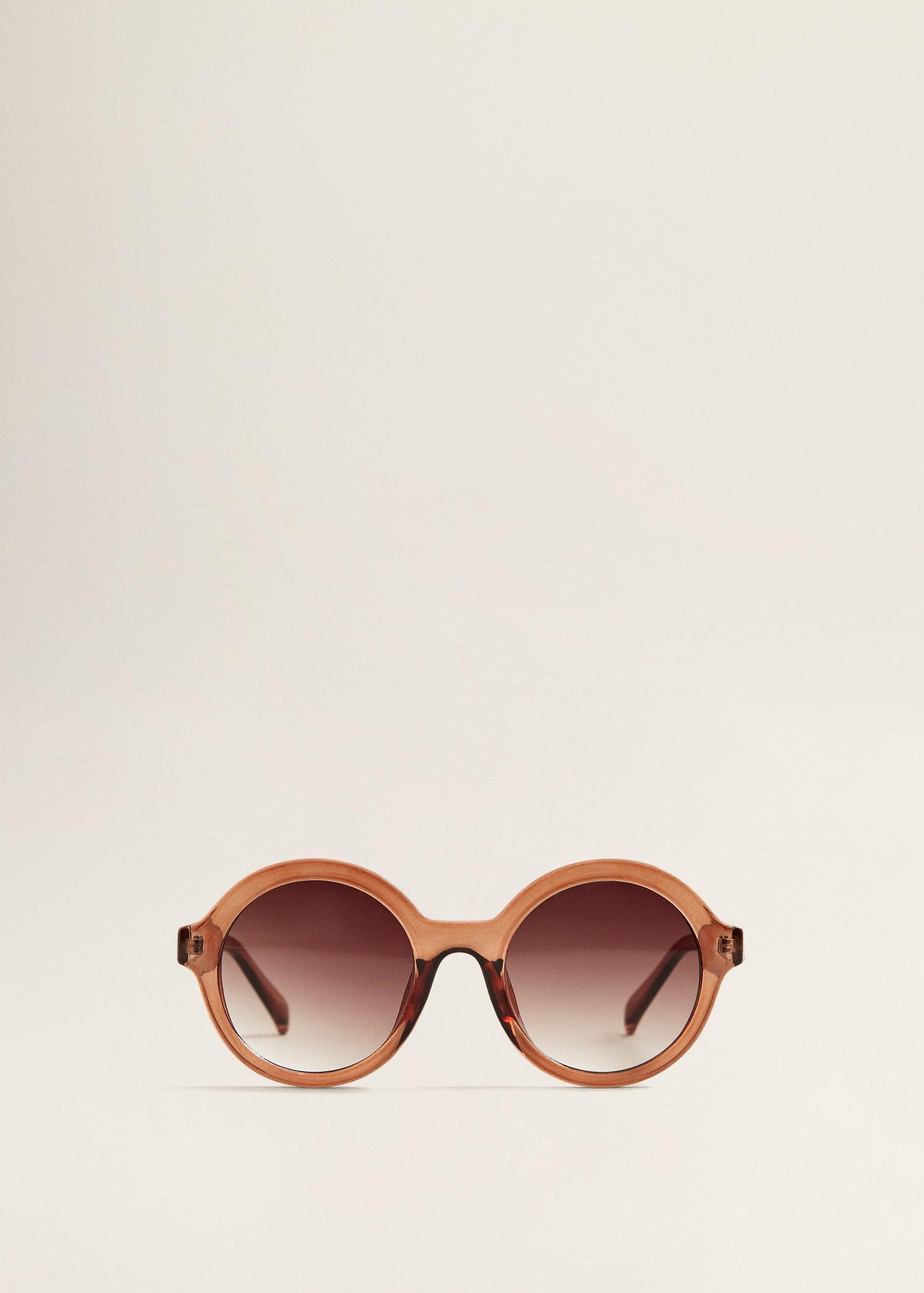 Mango Retro Style Sunglasses in Pink