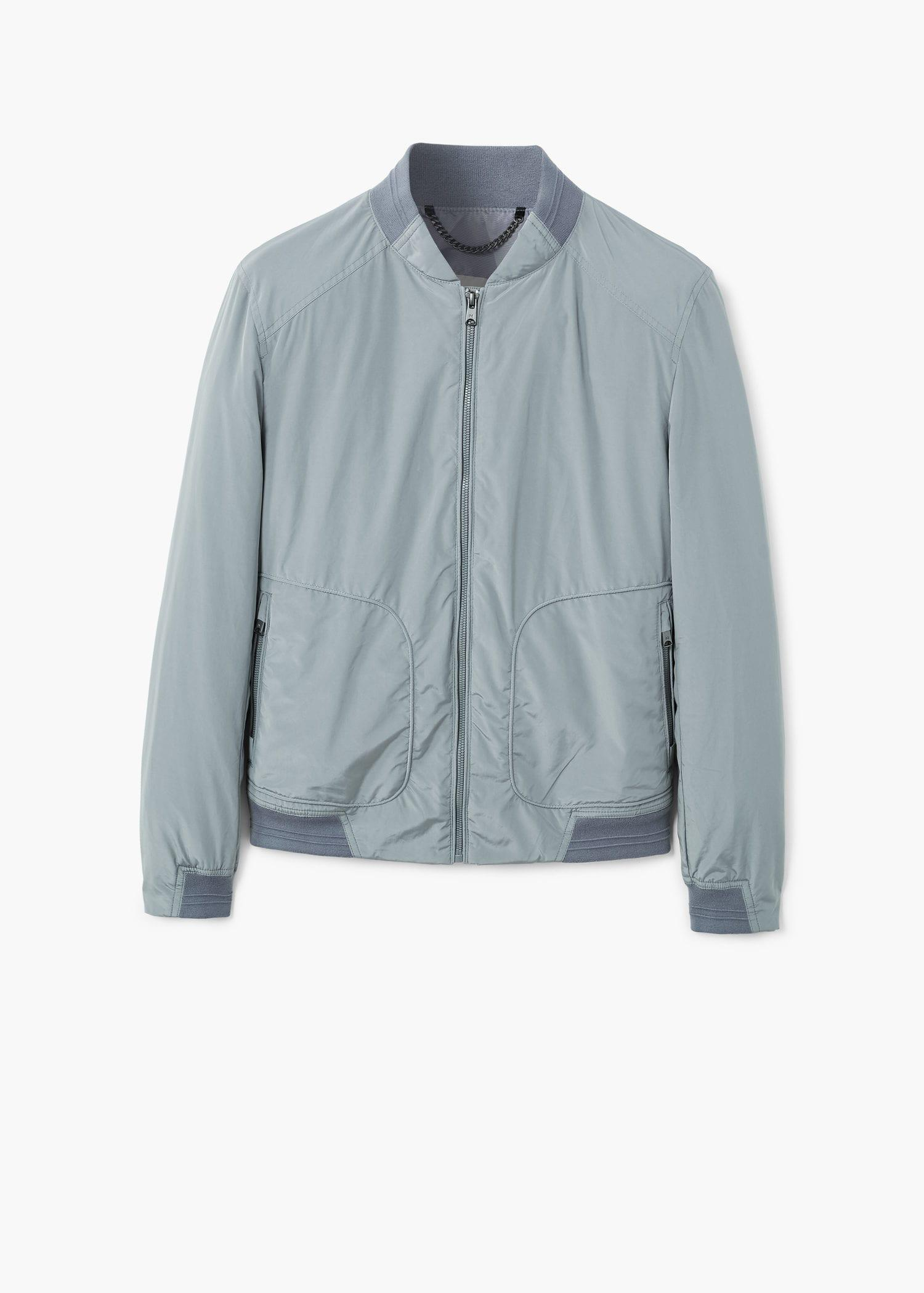 Mango Synthetic Folding Water-repellent Bomber Jacket in Grey (Grey) for Men