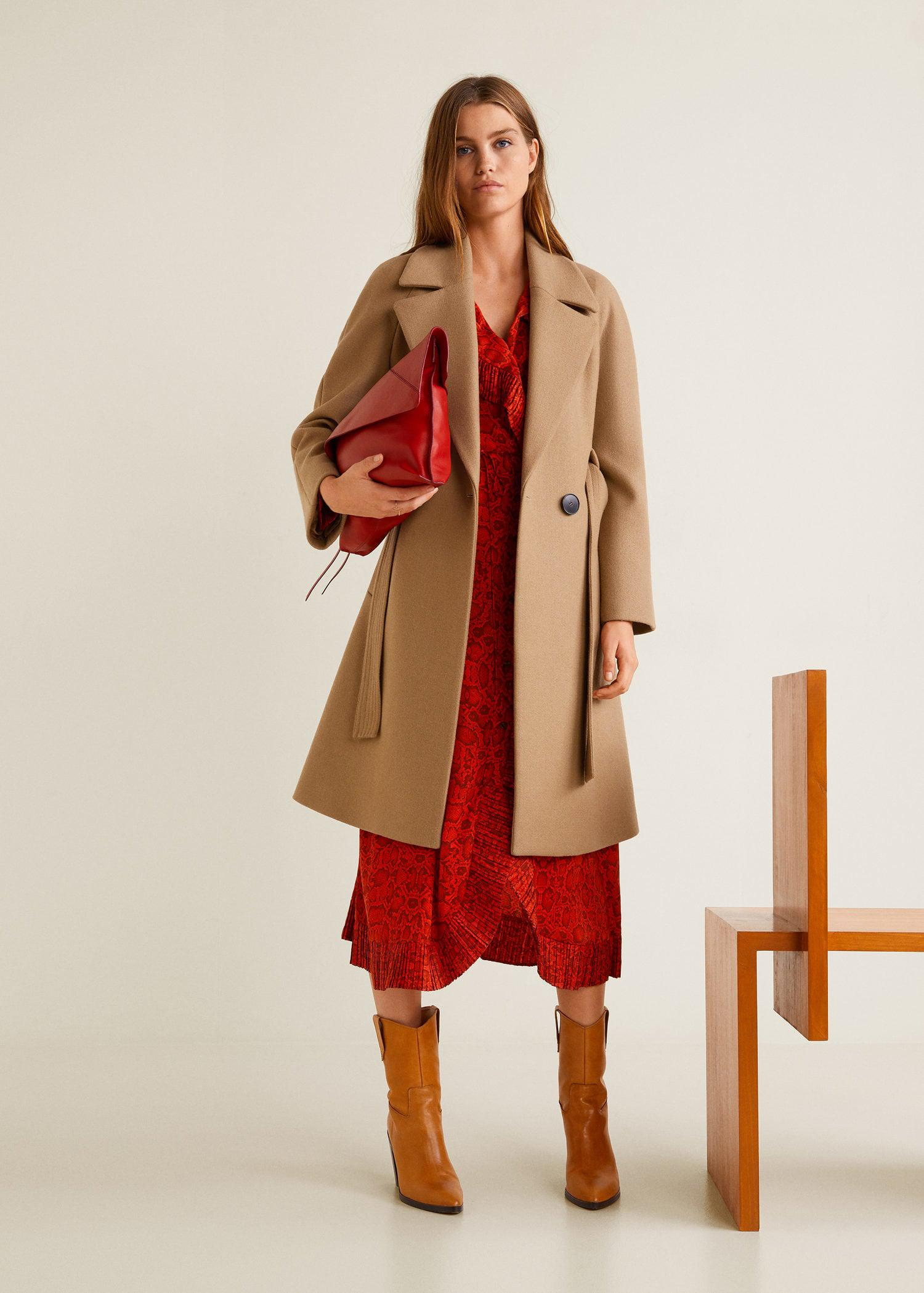 Lyst - Mango Structured Wool Coat in Brown 98d951cbd