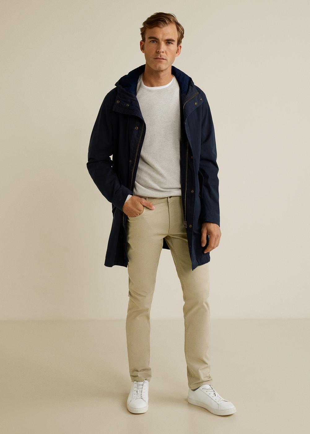Mango Denim Jeansachtige Slim-fit Serge Broek in het Wit voor heren