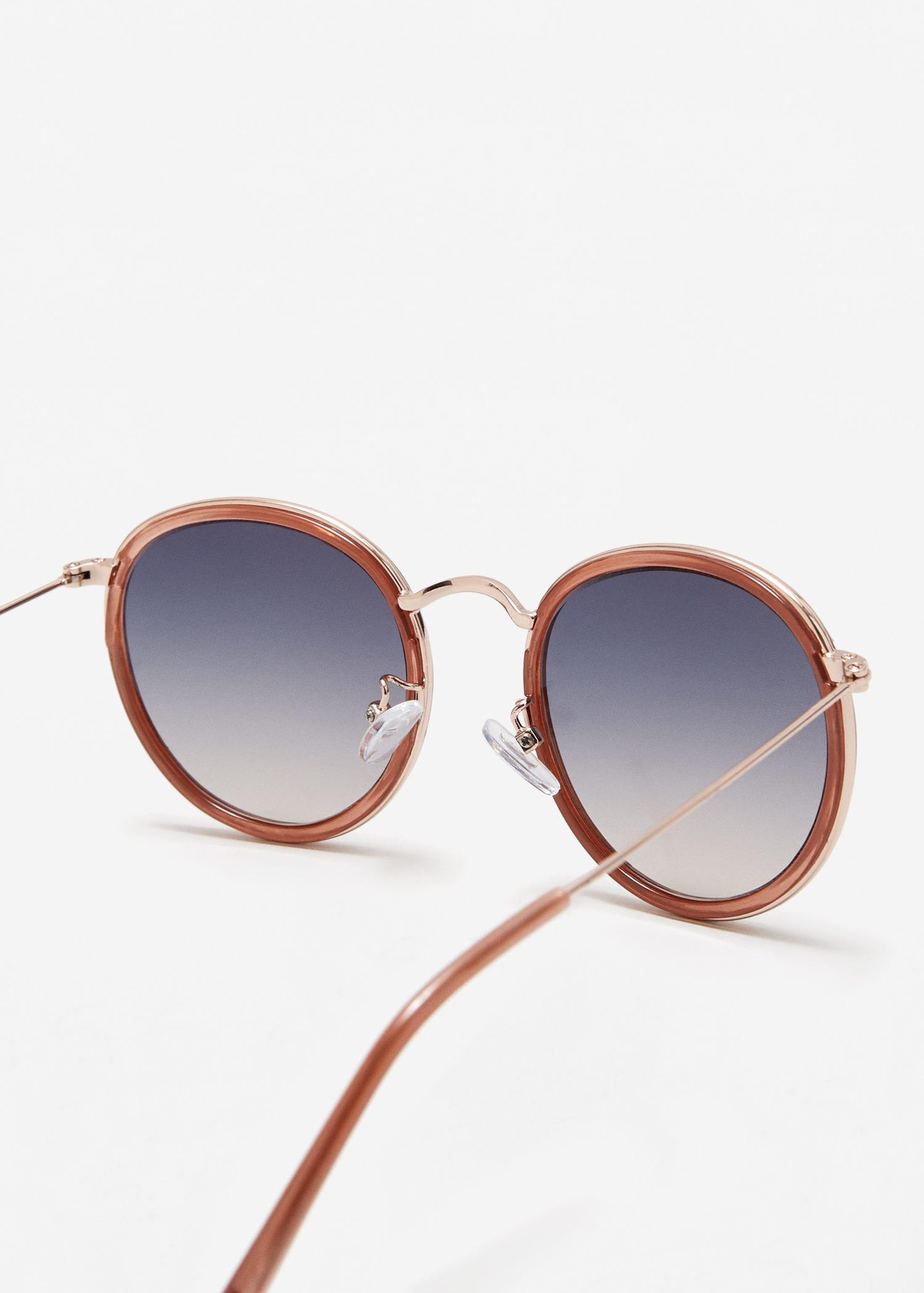 Mango Contrasting Sunglasses in Pink