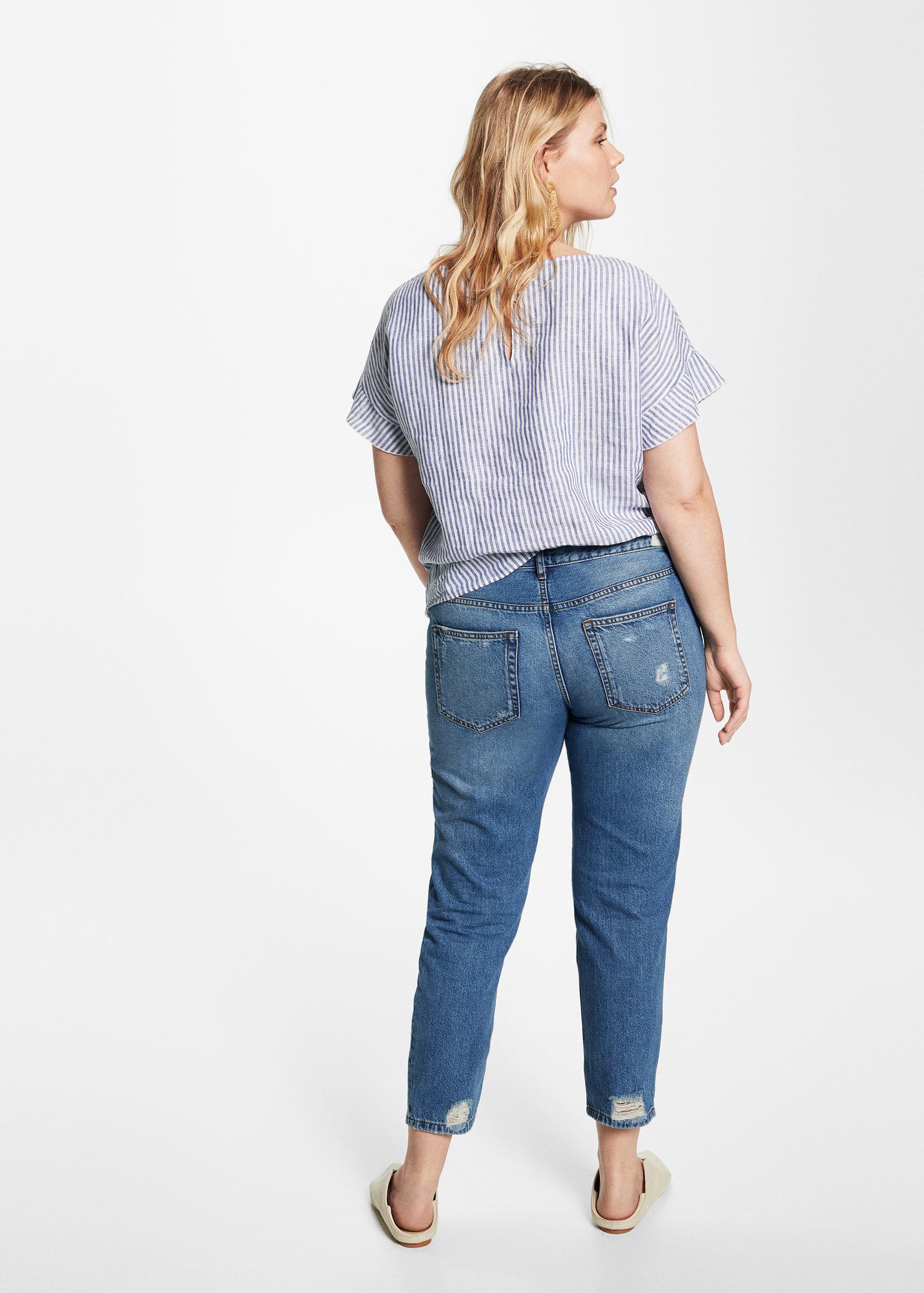 Violeta by Mango Denim Girlfriend Claudia Jeans in Blue