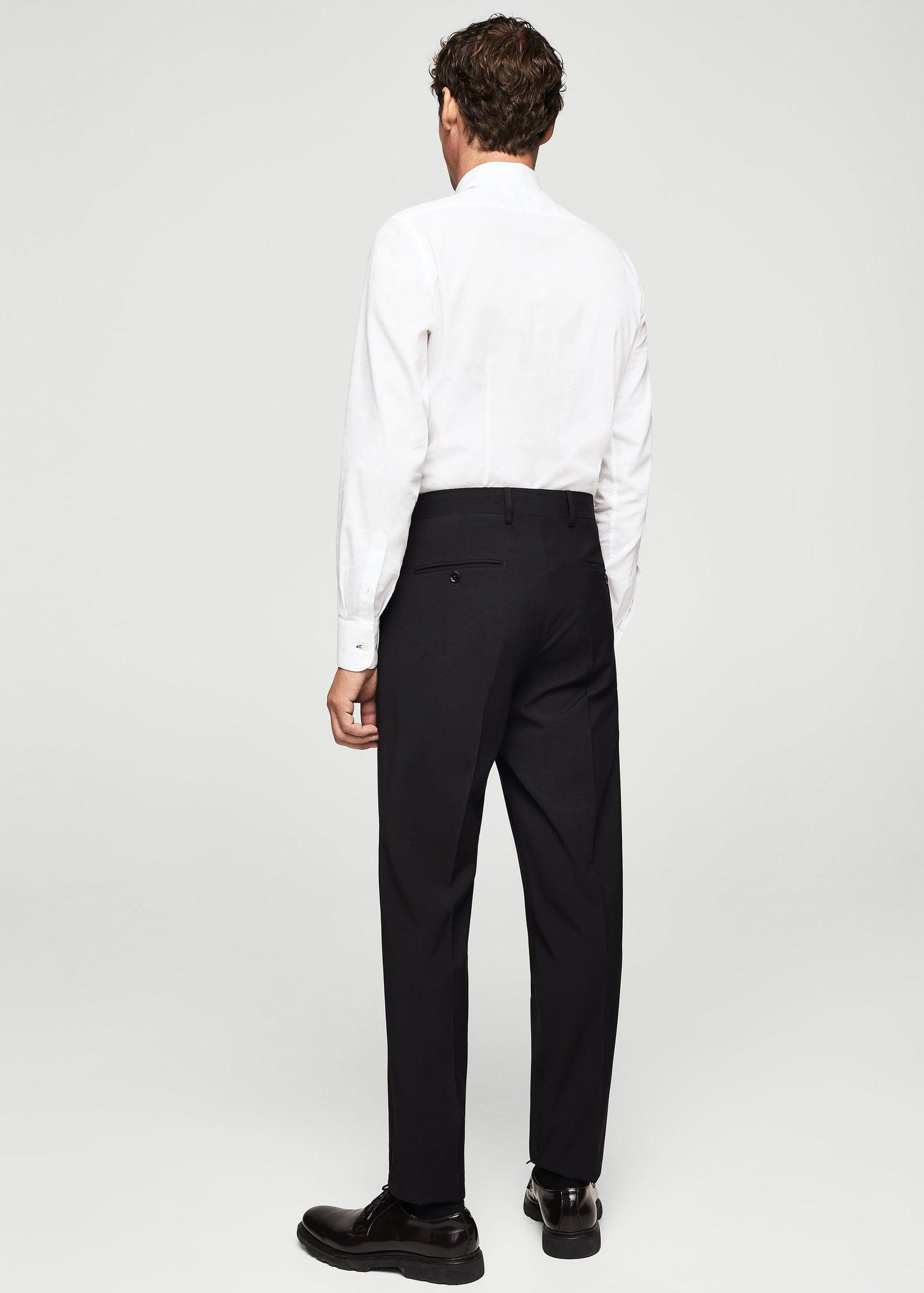 Mango Synthetic Trousers in Black for Men