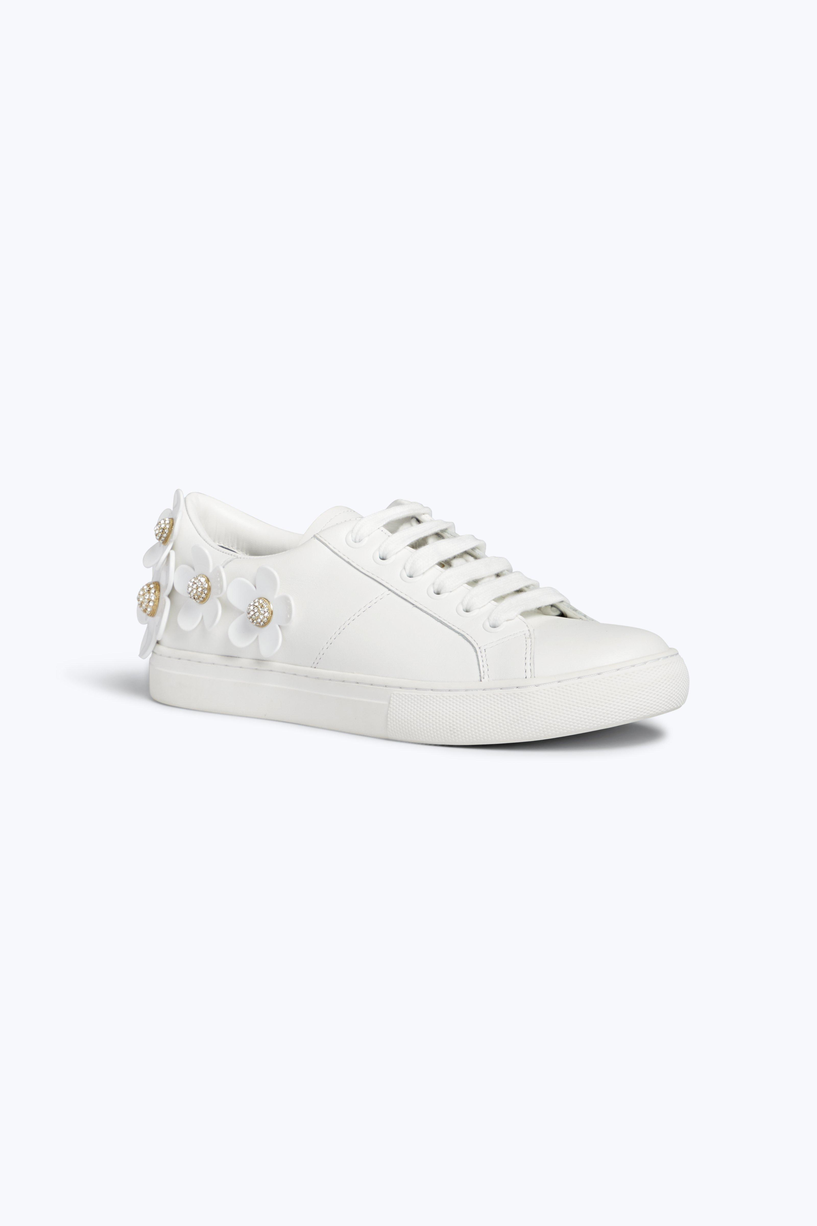 Daisy Appliquéd Metallic Leather Sneakers - Silver Marc Jacobs Wx2lBO8l5