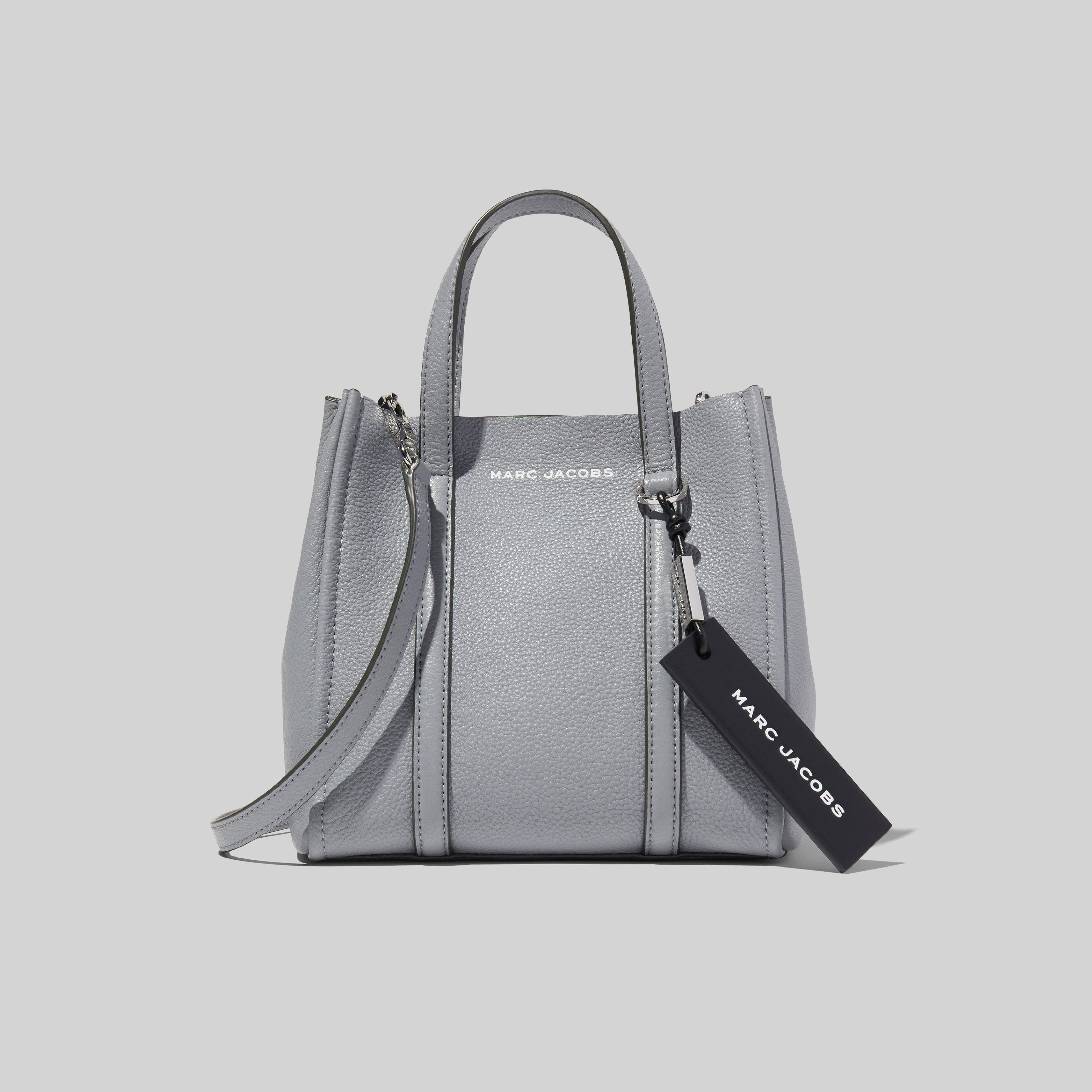 The Tag Tote 21 In Grey Leather