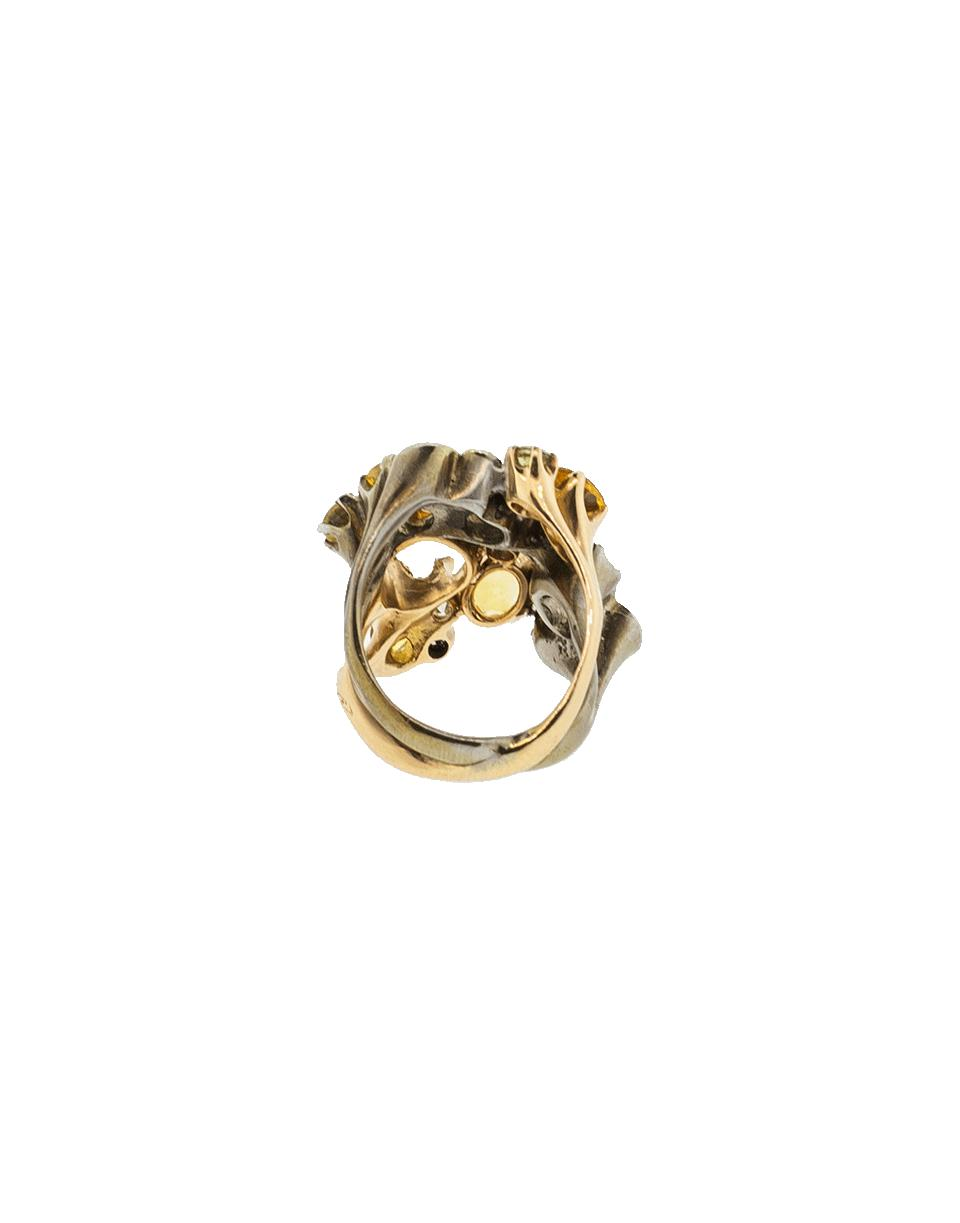 Federica Rettore Yellow And Green Sapphire Ring in Metallic