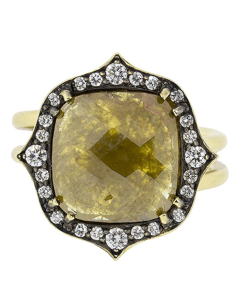 4061dfd17e8 Lyst - Sylva   Cie Cushion Rough Diamond Ring in Metallic