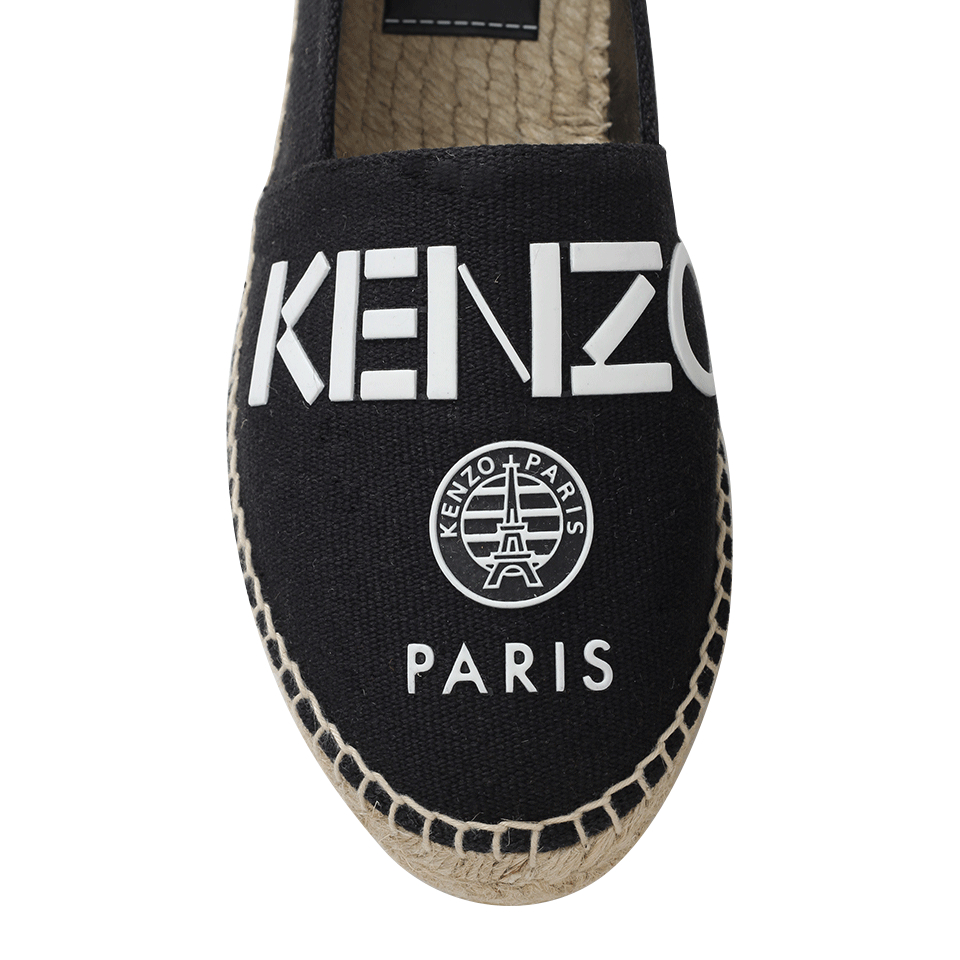 KENZO Rubber Paris Espadrille in Black for Men