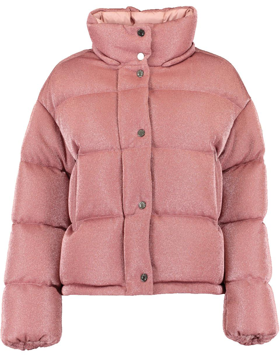 c70a738e9 Moncler Caille Sparkle Puffer Jacket in Pink - Lyst