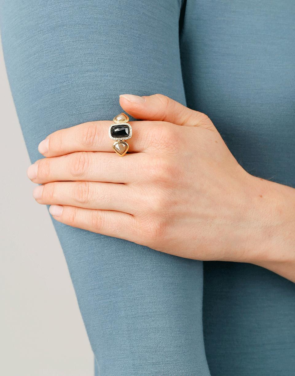 Todd Reed Three Stone Ring in Metallic
