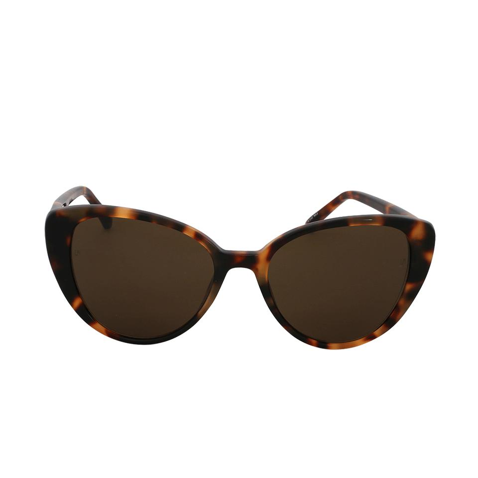 47323dc2245f Linda Farrow Cat-eye Sunglasses in Brown - Lyst