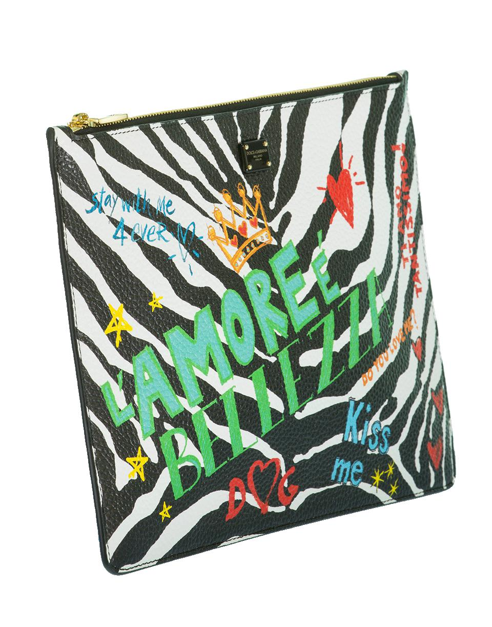 9964b3bf1b05 Lyst - Dolce   Gabbana Zebra Print Crossbody