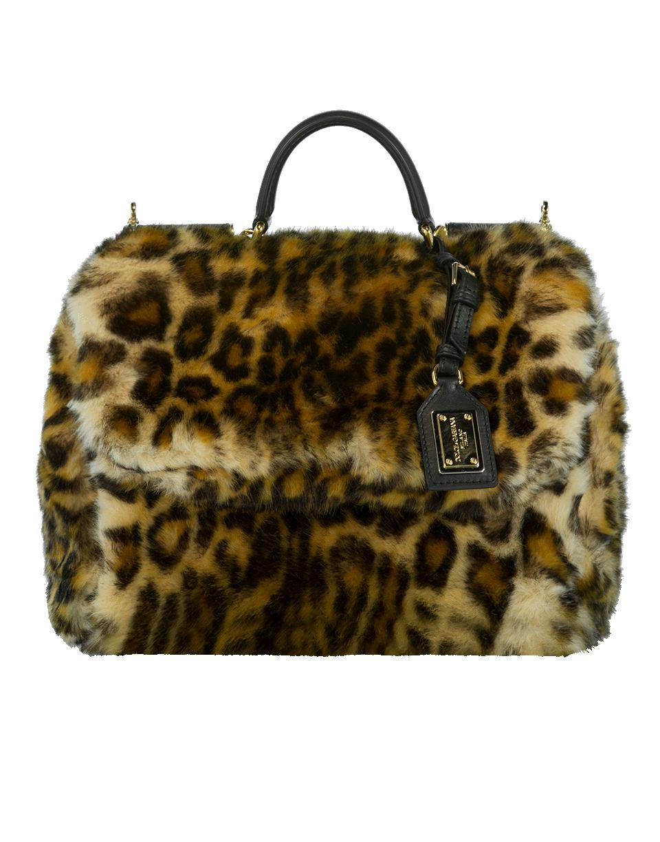 Lyst - Dolce   Gabbana Furry Leopard Print Handbag in Natural 5bdd24146999d