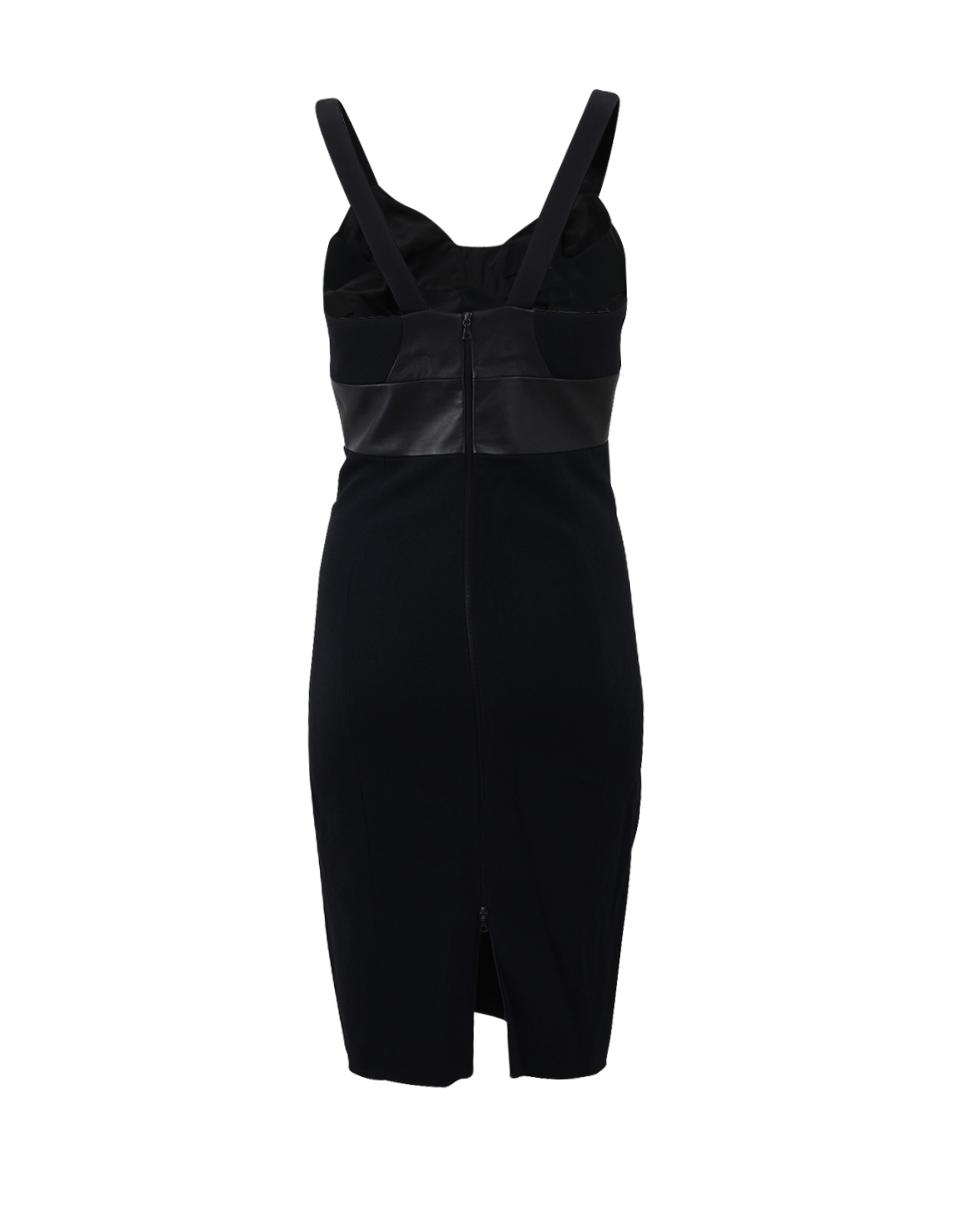 34764f3a1b1 Narciso Rodriguez Nappa Bustier Fitted Dress in Black - Lyst