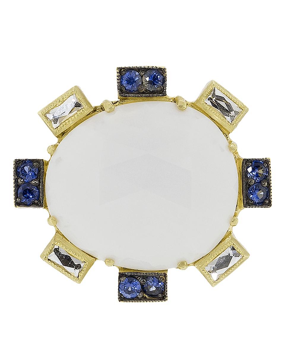 7de0ff5fa3e Sylva   Cie Cachalong Opal Petal And Sapphire Ring in Metallic - Lyst