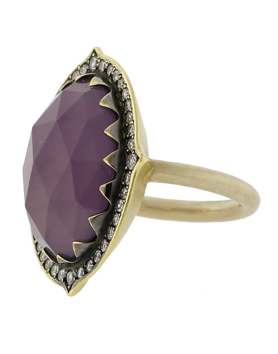 8cb56021b9f Lyst - Sylva   Cie Purple Chalcedony Ring