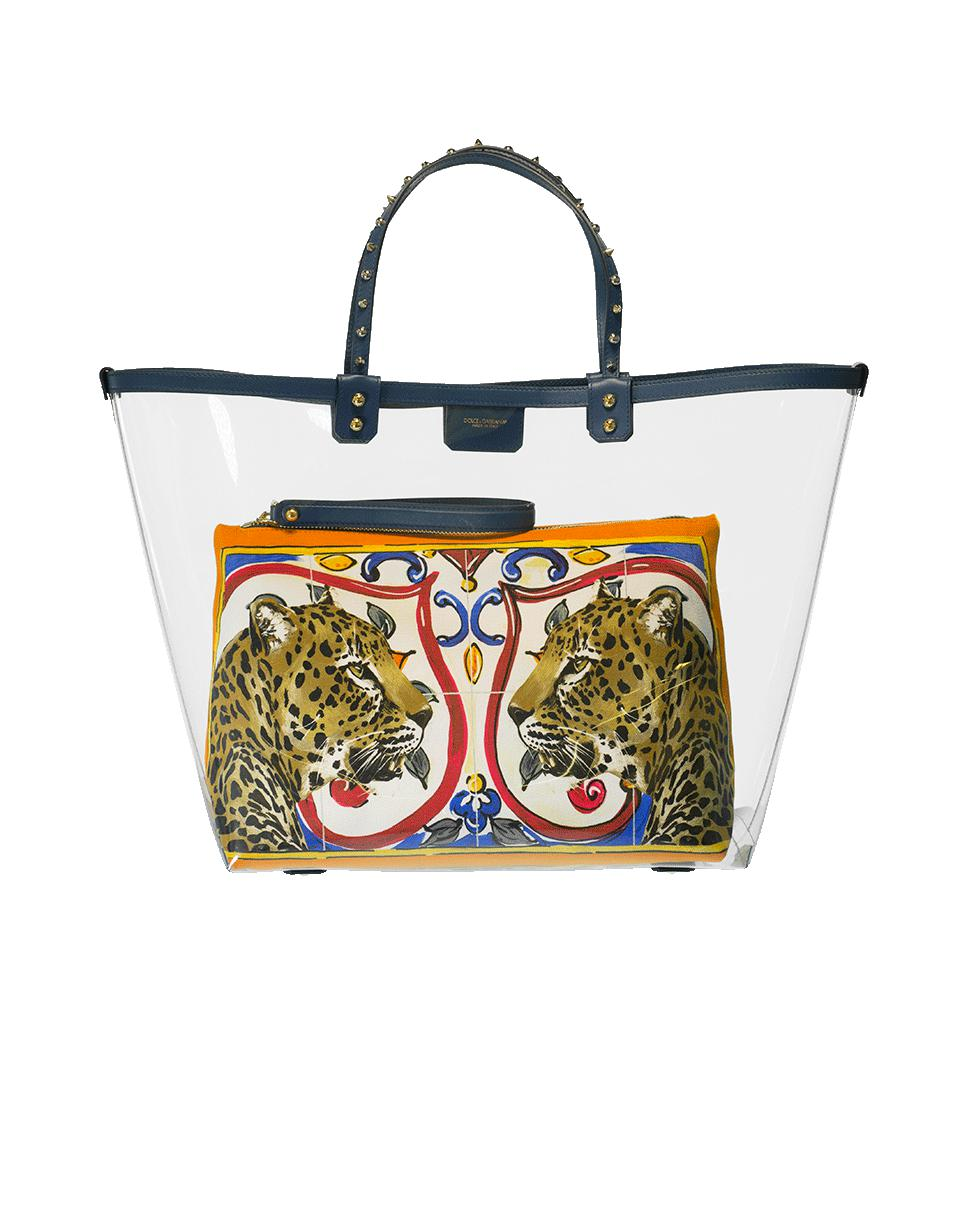 Dolce & Gabbana Clear Tote With Print