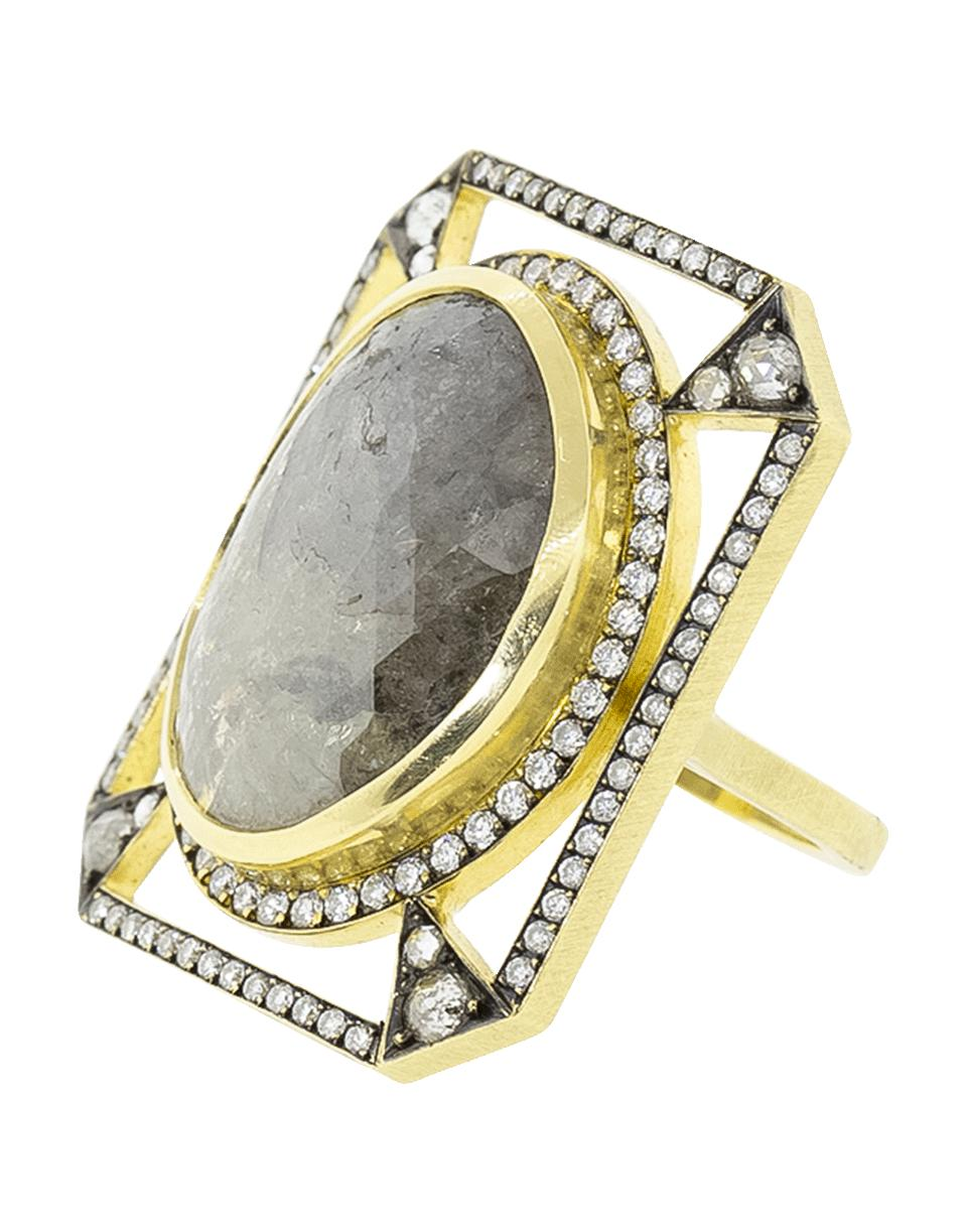 1d396fed7e4 Lyst - Sylva   Cie Rough Diamond Window Ring in Metallic
