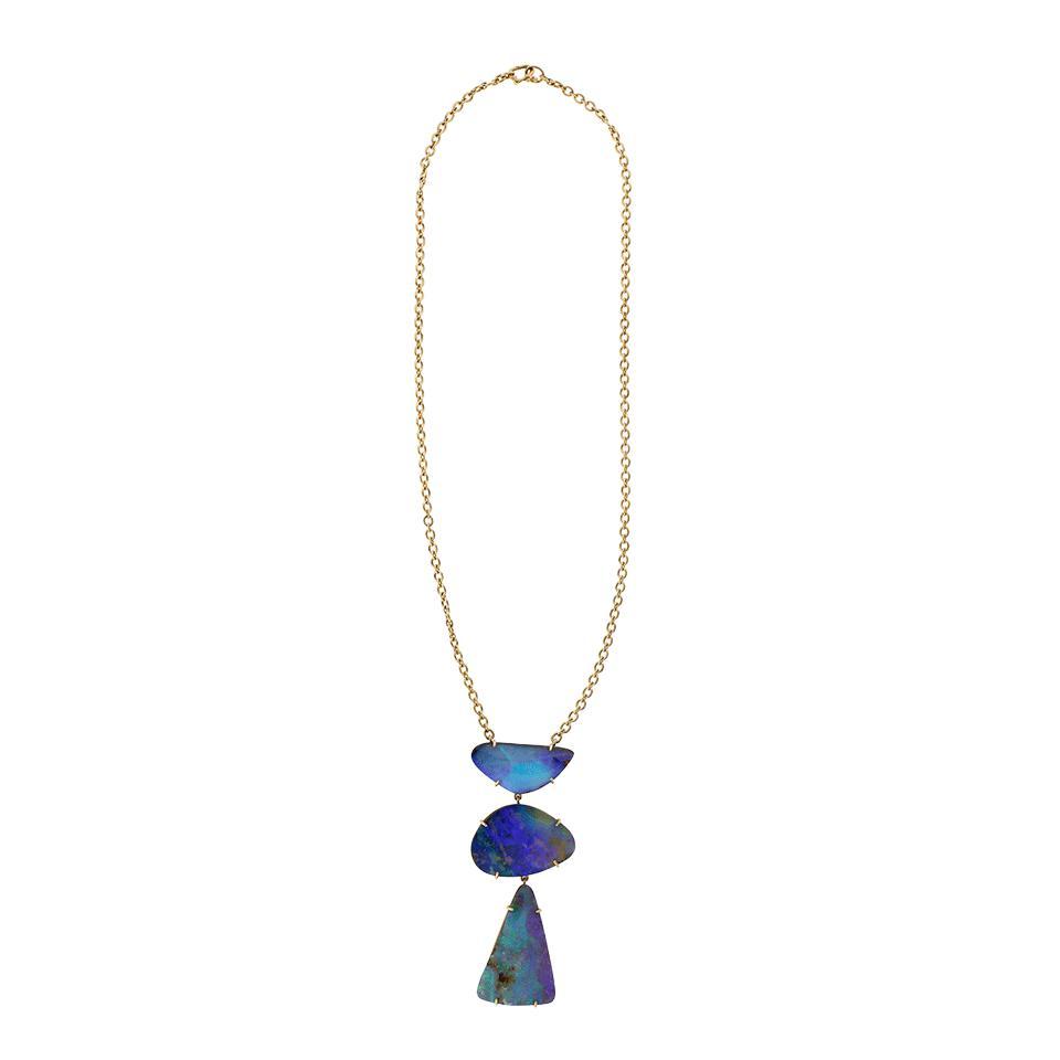 Irene Neuwirth Boulder Opal Necklace in Blue