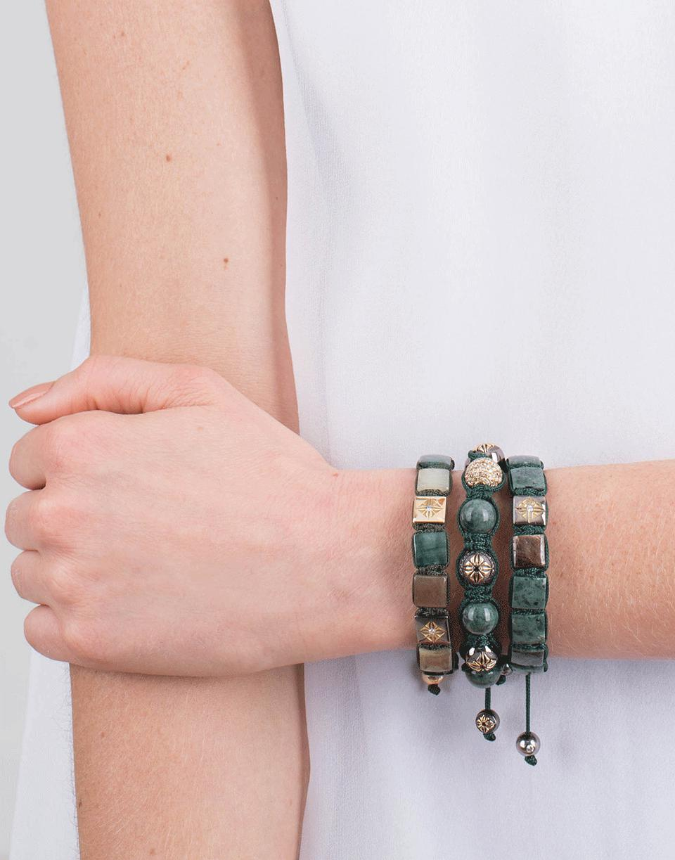 Shamballa Jewels Green Marble Bead Bracelet Lyst