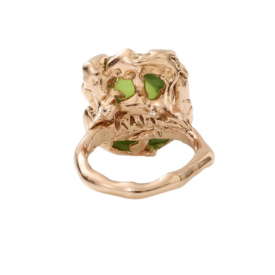 Lucifer Vir Honestus Peridot Chicco Ring in Green