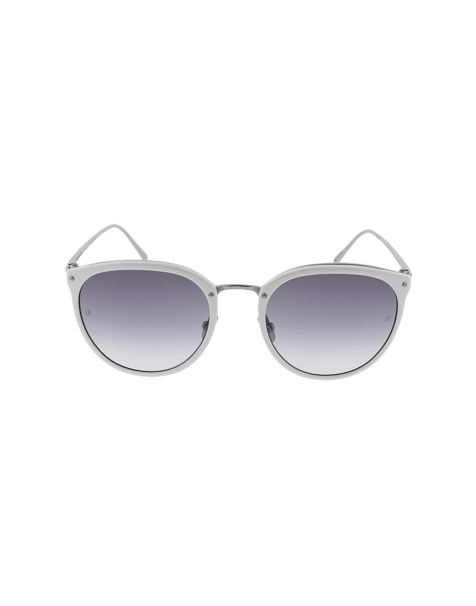 Lyst - Linda Farrow White Framed Sunglasses in White