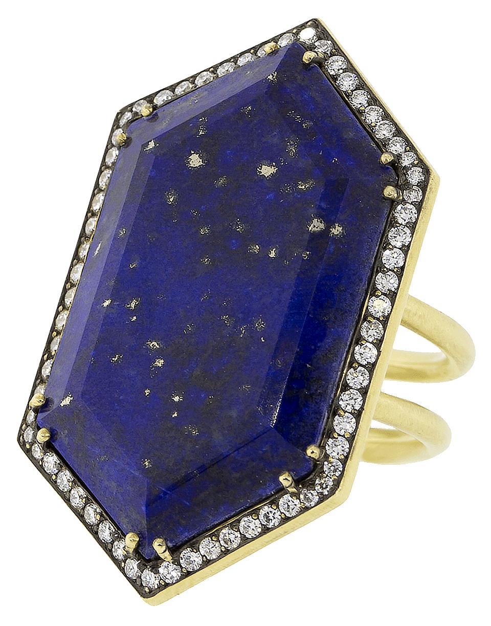 3d243e232da Lyst - Sylva   Cie Lapis And Diamond Ring in Blue