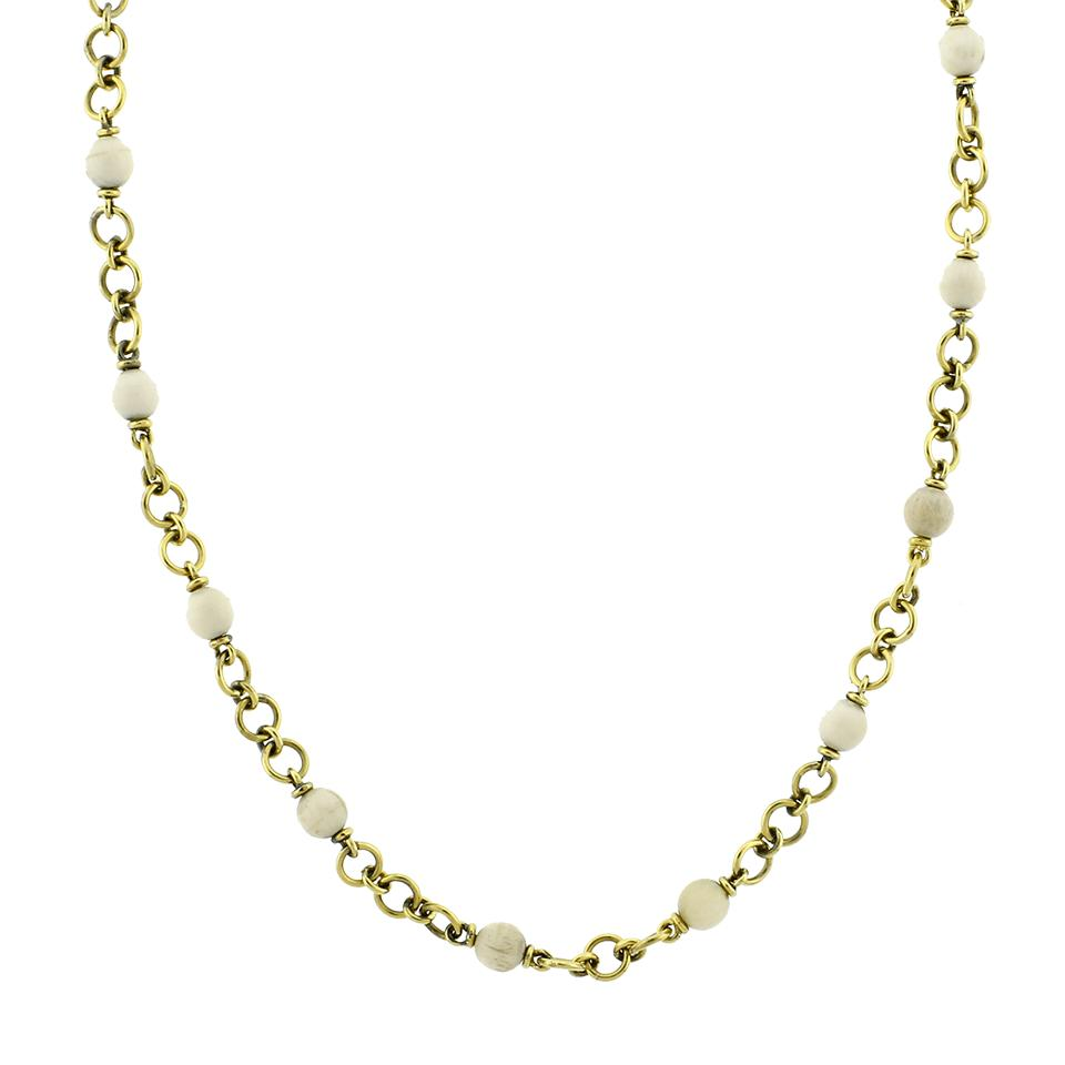 Sylva & Cie Baby Mammoth Bead Necklace - Lyst